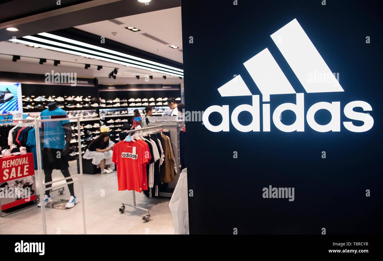 68c8ce18 German multinational sportswear store and logo Adidas seen in Hong Kong.