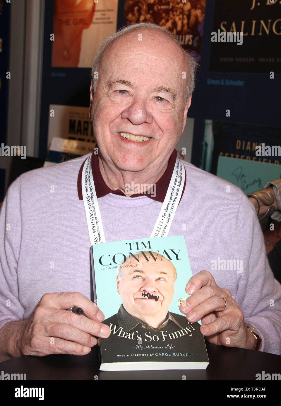 May 14, 2019: New York, NY, USA: FILE: Actor and comedian TM CONWAY, best known for his work on ''The Carol Burnett Show,'' died on Tuesday morning in Los Angeles, according to his publicist. PICTURED: May 30, 2013 - New York, New York, U.S. - Author/comedian TIM CONWAY attends the 2013 'Book Expo America' held at the Jacob Javits Center. (Credit Image: © Nancy Kaszerman/ZUMAPRESS.com) - Stock Image