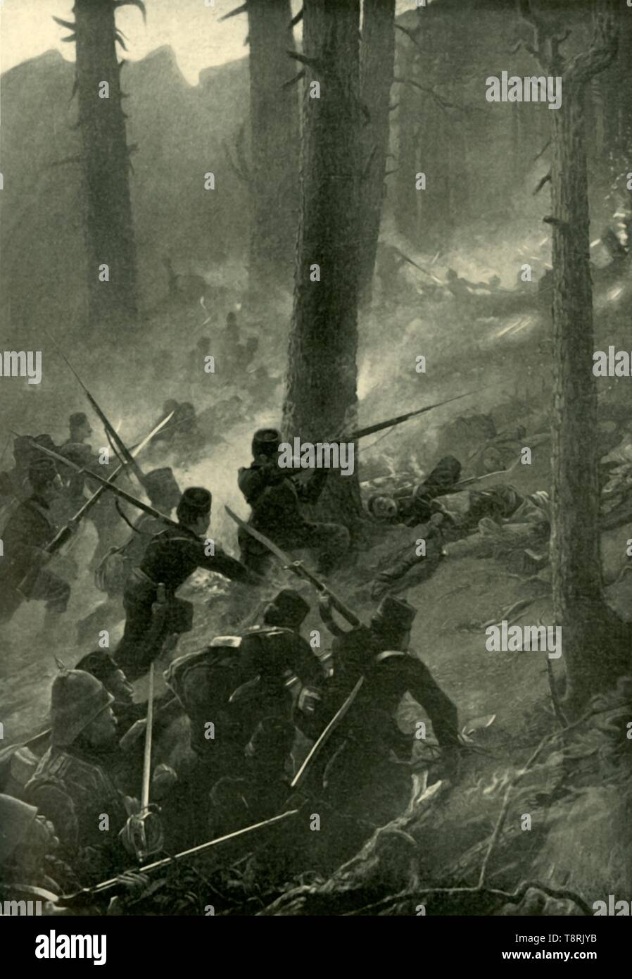 'The Daring Attack on the Spingawi Khotal, December 2, 1878', (1901).  Creator: Unknown. - Stock Image