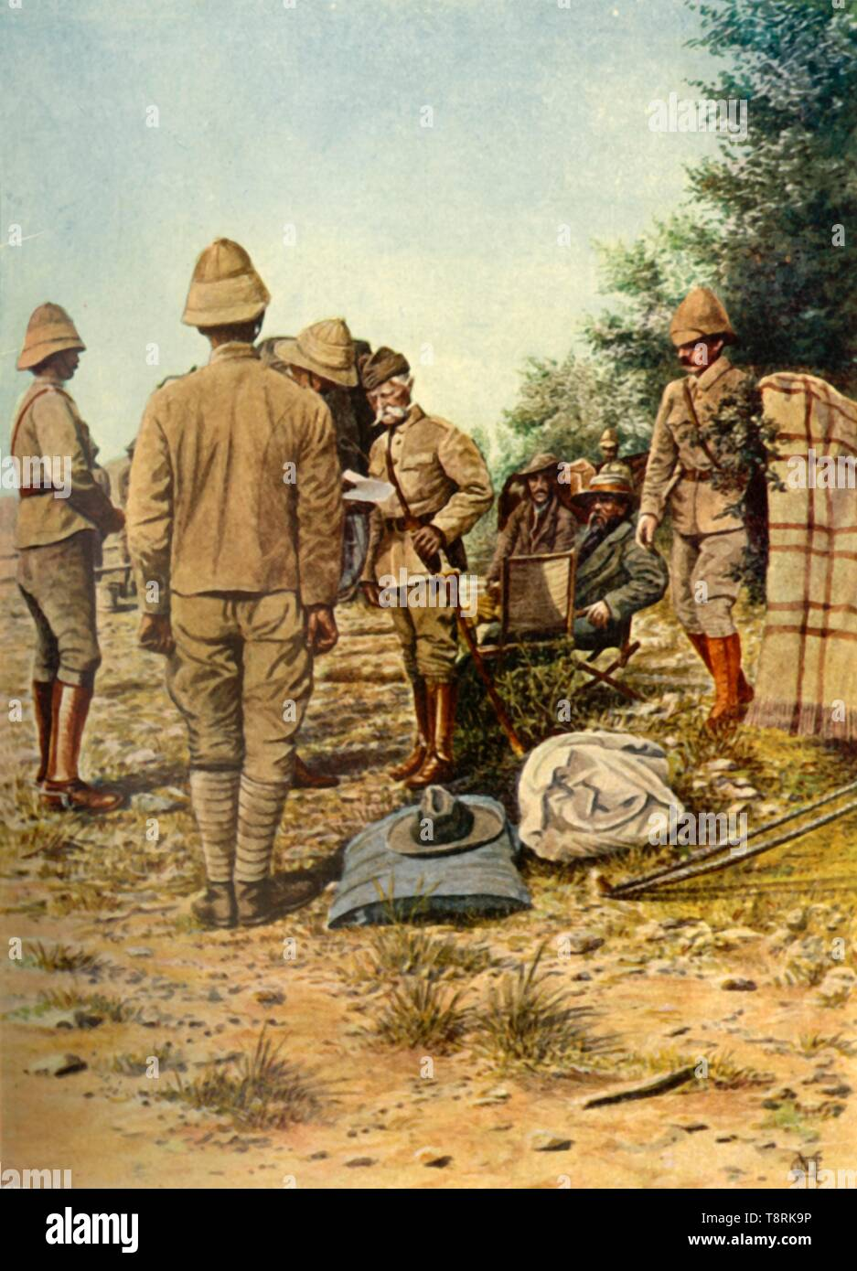 'The Surrender of General Cronje to Lord Roberts at Paardeberg...', 27 February 1900, (1901).  Creator: Donald E M'Cracken. - Stock Image