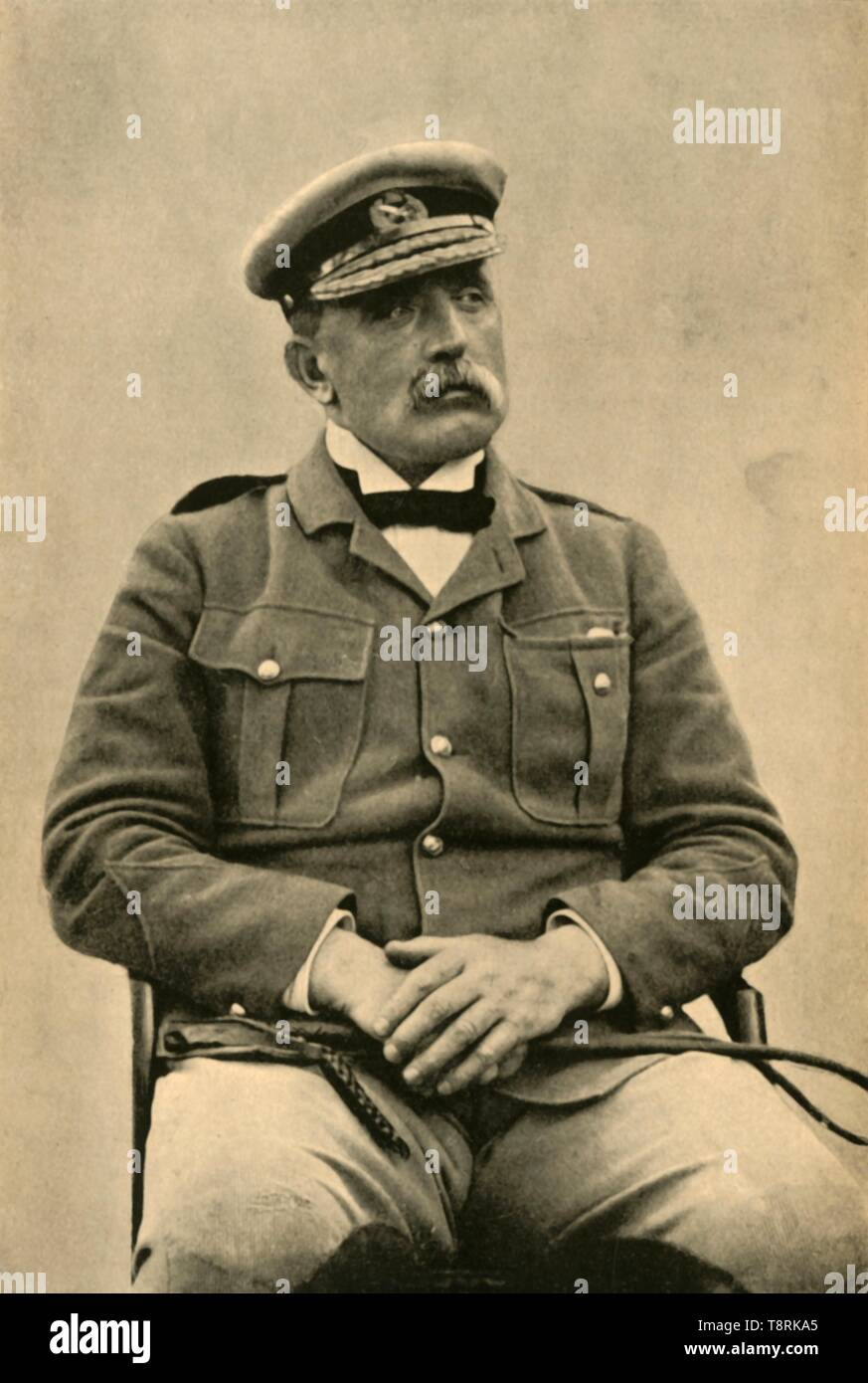 """'Major-General Sir J. D. P. French, K.C.B.', 1901. Portrait of British soldier John Denton Pinkstone French, 1st Earl of Ypres. Field Marshal French (1852-1925) served during the Boer Wars, and was first Commander-in-Chief of the British Expeditionary Force for the first two years of World War I before serving as Commander-in-Chief of Home Forces. In 1918 Lord French became Lord Lieutenant of Ireland, a position he held throughout much of the Irish War of Independence. From """"The Life and Deeds of Earl Roberts, Vol. IV. - To Lord Roberts's Reign in Pall Mall"""", by J. Maclaren Cobban. [ - Stock Image"""