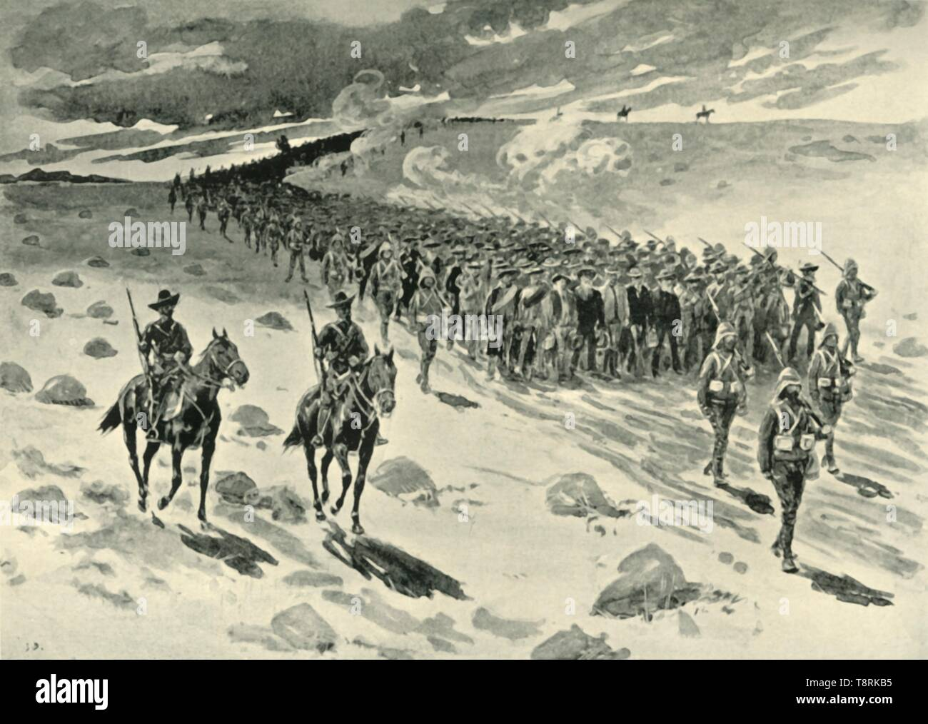 'After Paardeberg: Boer Prisoners on the March', (1901).  Creator: Unknown. - Stock Image