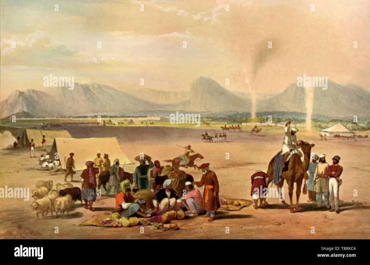'The City of Kandahar Looking from the South Towards Baba Wali Mountain', c1840, (1901).  Creator: James Atkinson. - Stock Image
