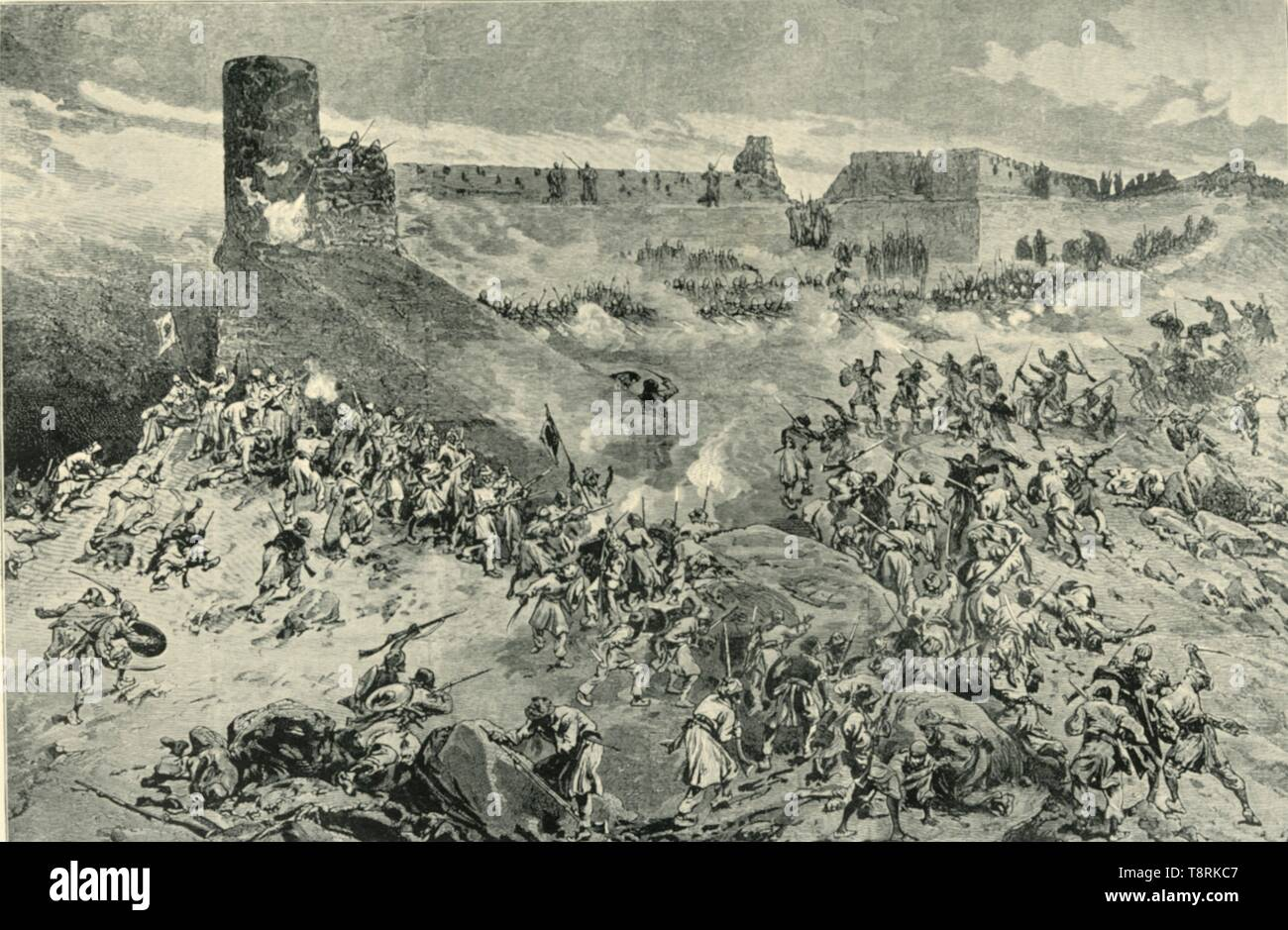 'The Attack on the Bala Hissar on the Night of 11th December 1879', (1901).  Creator: Neville Chamberlain. - Stock Image