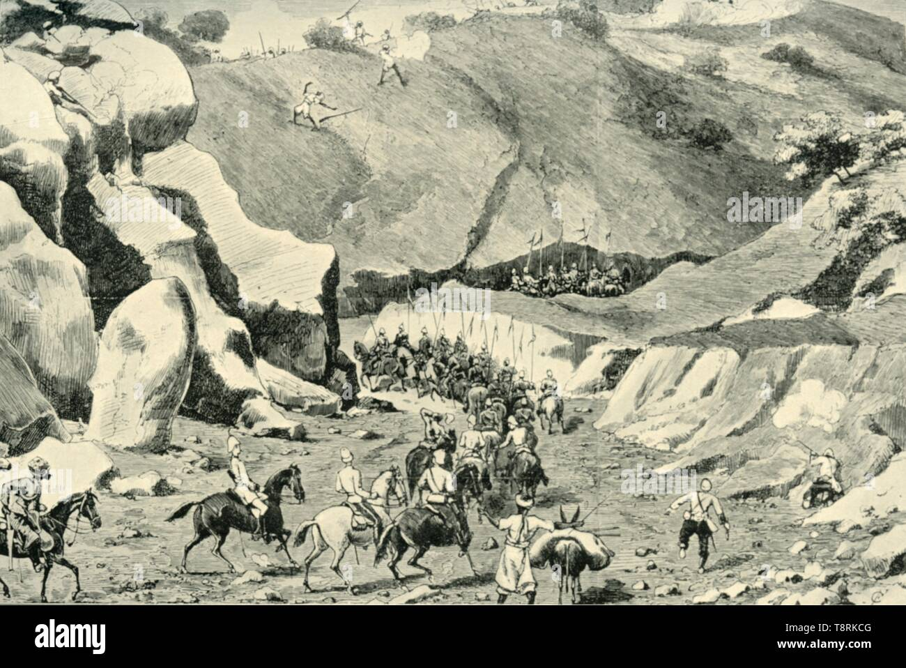 'General Roberts...Attacked by ghilzais in the Shutargardan Pass, September 27, 1879', (1901).  Creator: Unknown. - Stock Image