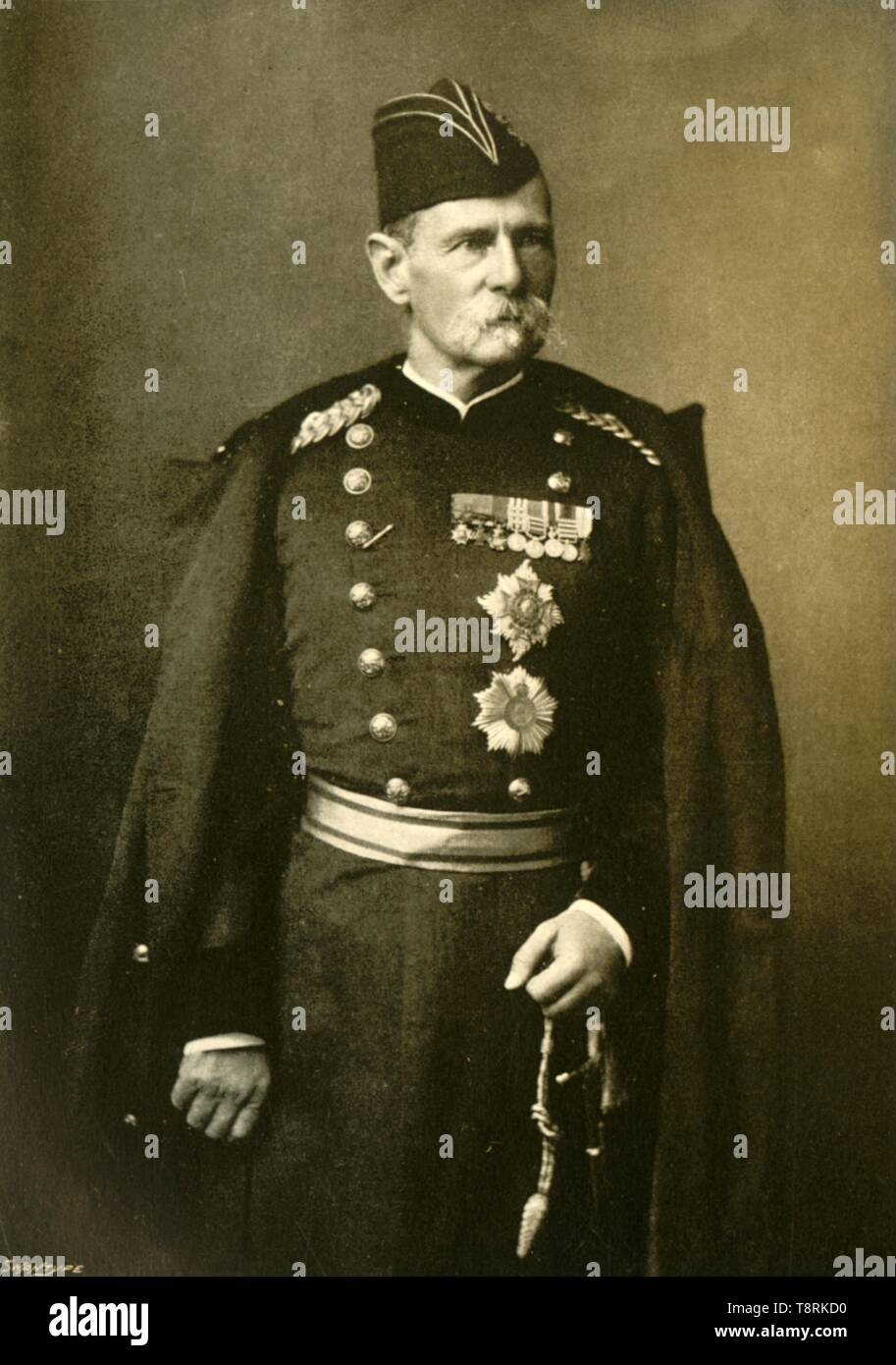 'Lord Roberts, 1st Baron of Kandahar, Commander-in-Chief of the Army in India', c1890s, (1901).  Creator: Bourne & Shepherd. - Stock Image