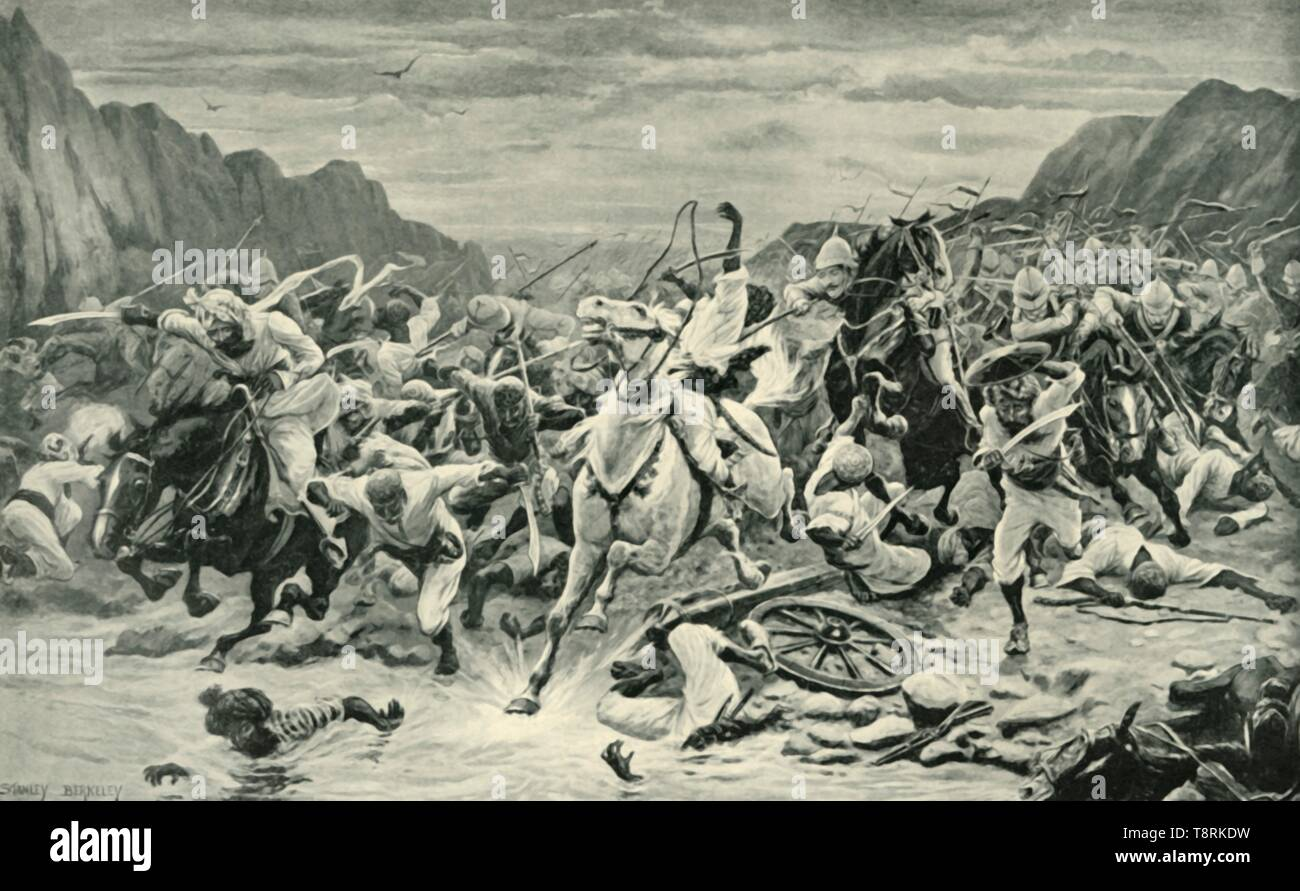 'The Victory of Kandahar (Cavalry Pursuit to the Arghandab River)', (1901).  Creator: Unknown. - Stock Image