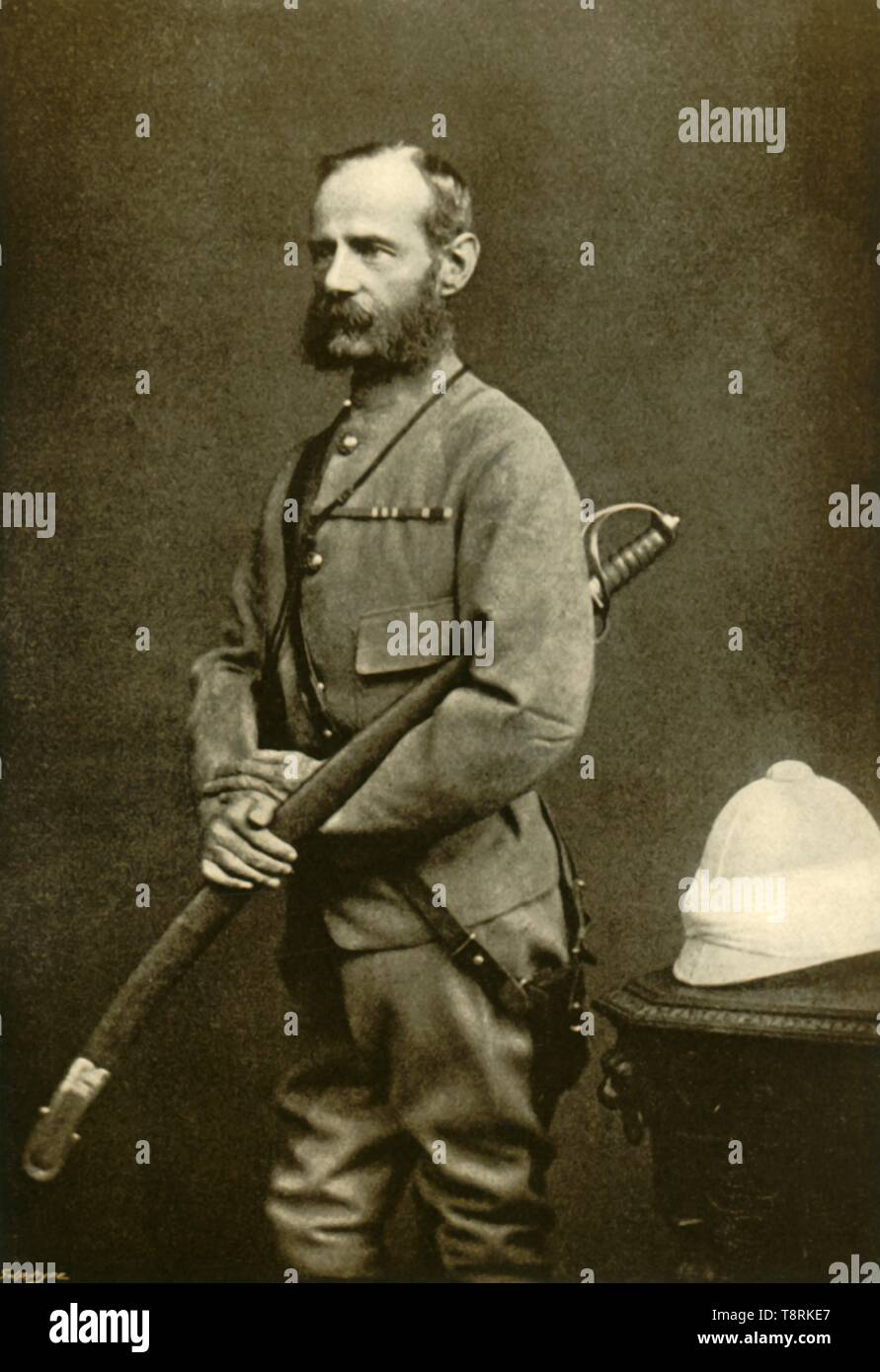 'Sir Frederick S. Roberts, 1880', (1901).  Creator: Maull & Fox. - Stock Image