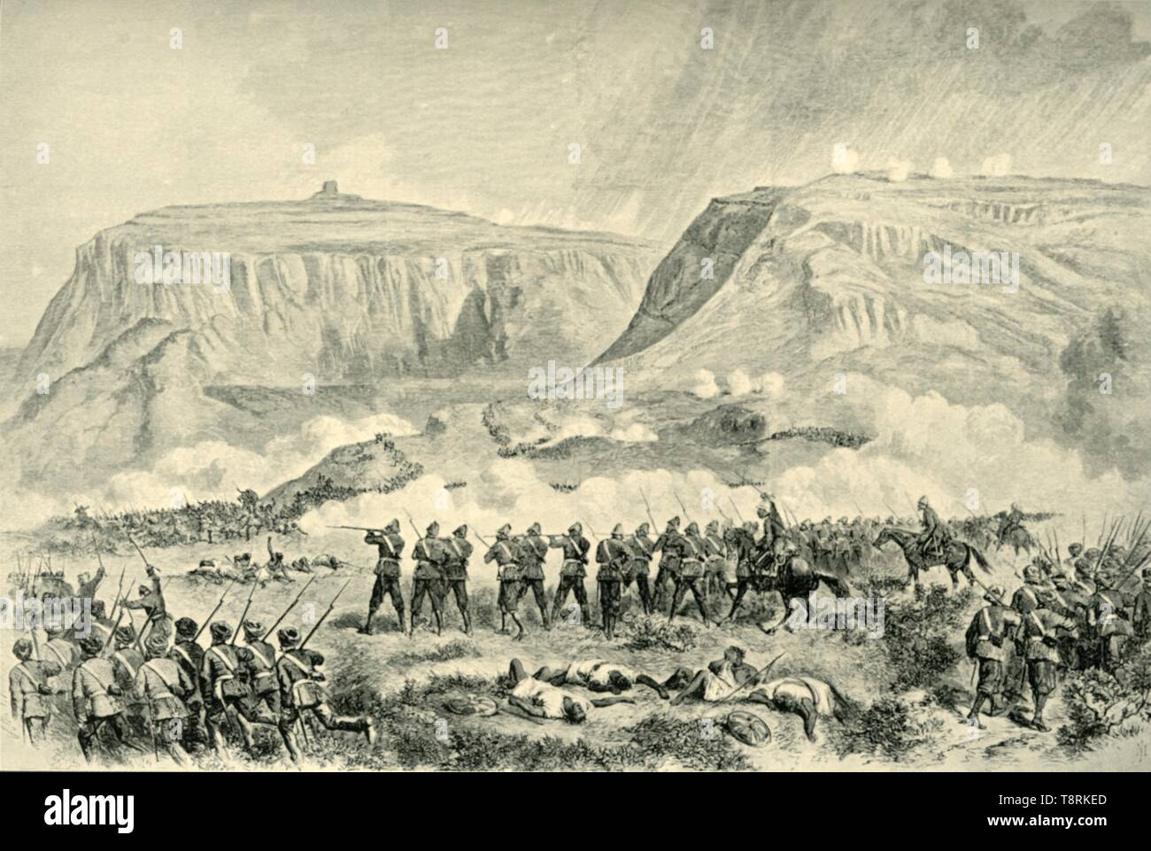 'The Abyssinia Expedition: The Battle of Arogee...on Good Friday, April 10, 1868', (1901) Creator: Unknown. - Stock Image