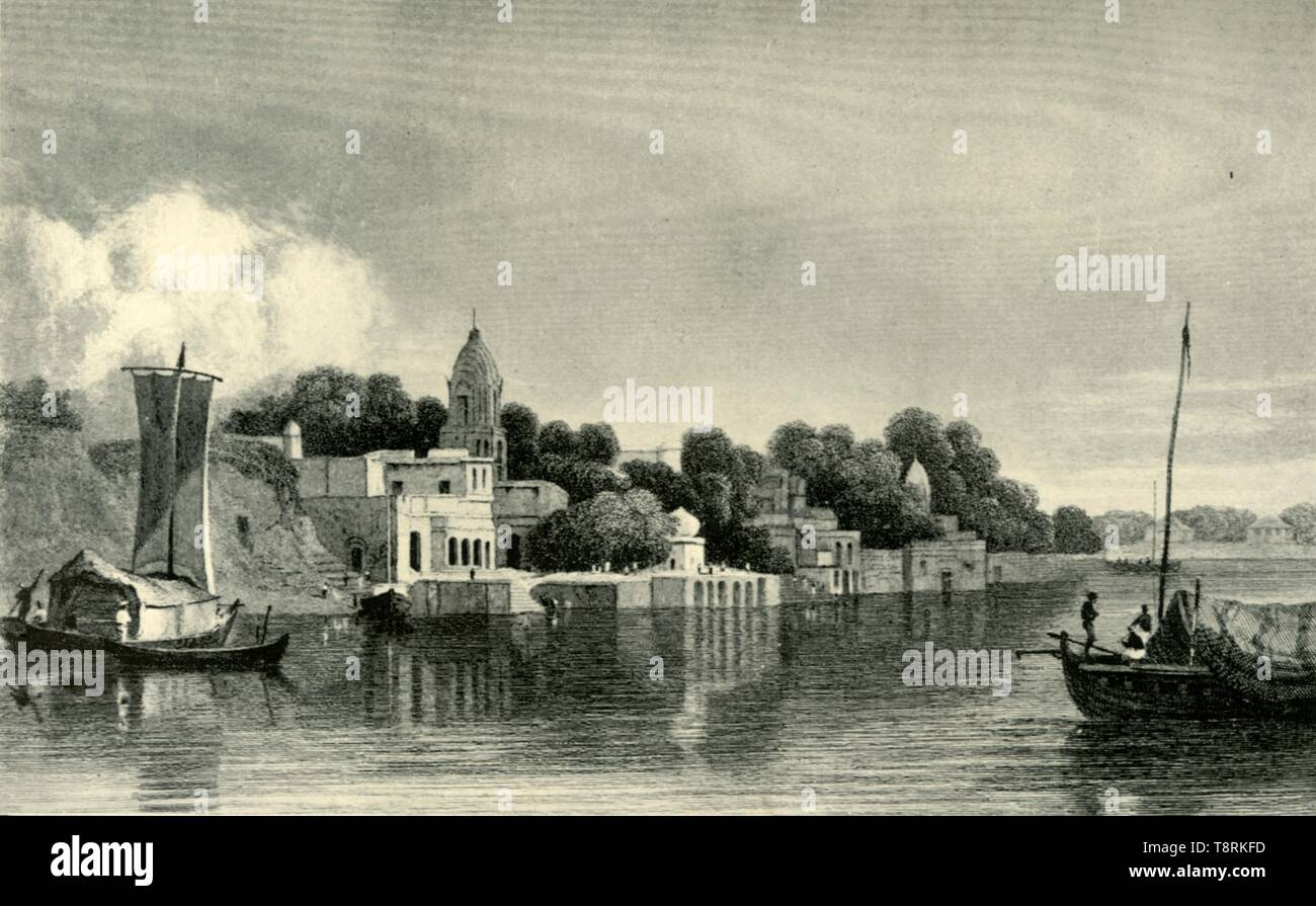 'Cawnpore - Lord Roberts's Birthplace', 1820s, (1901). Creator: Unknown. - Stock Image