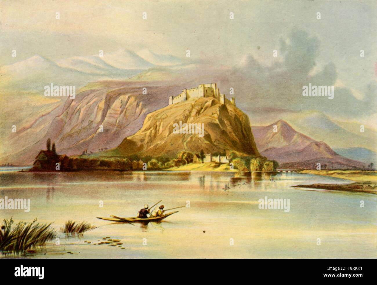 'The City of Srinagar (Kashmir) and Hurri Purbut Fort', 1840s, (1901).  Creator: Unknown. - Stock Image