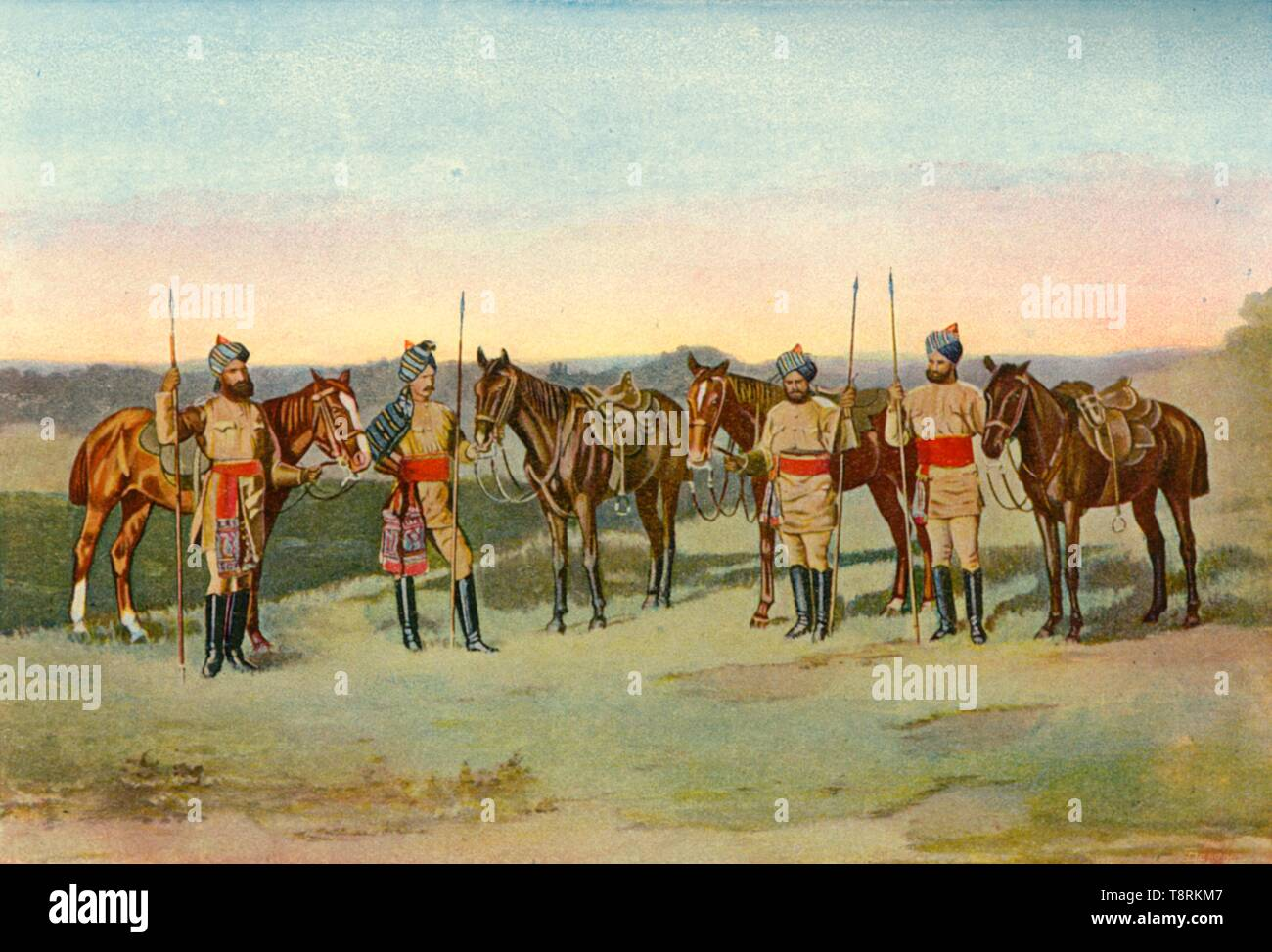 'The Second Bengal Lancers', 1901. Creator: Unknown. - Stock Image