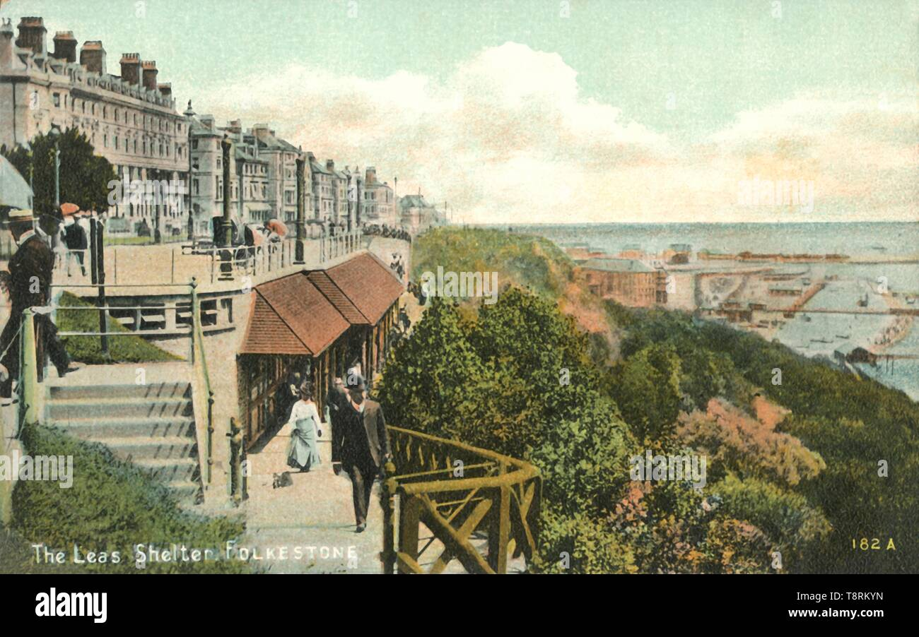 'The Leas Shelter, Folkestone', 1900s. Creator: Unknown. - Stock Image