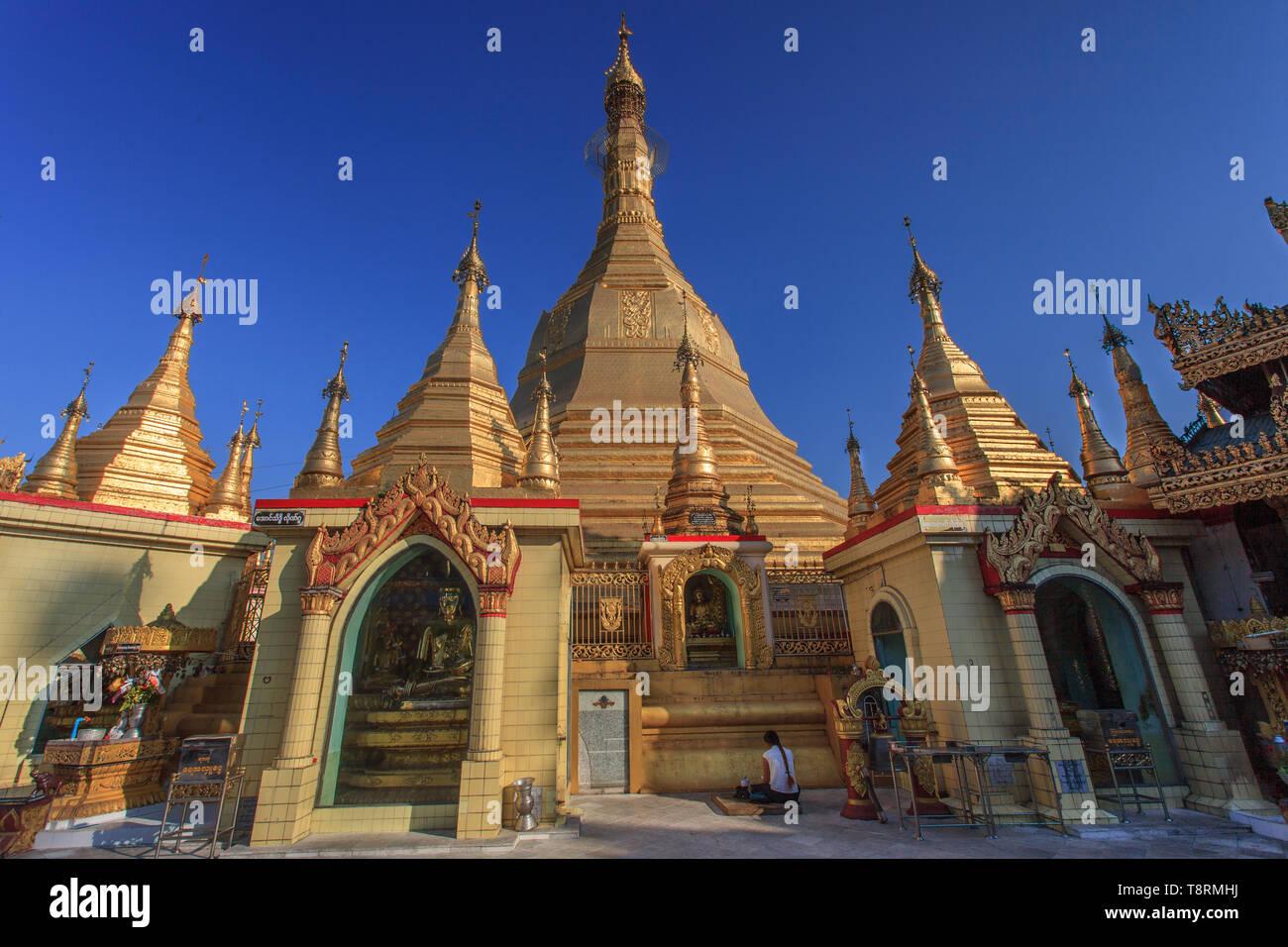 The Sule pagoda in Yangoon (Myanmar) - Stock Image