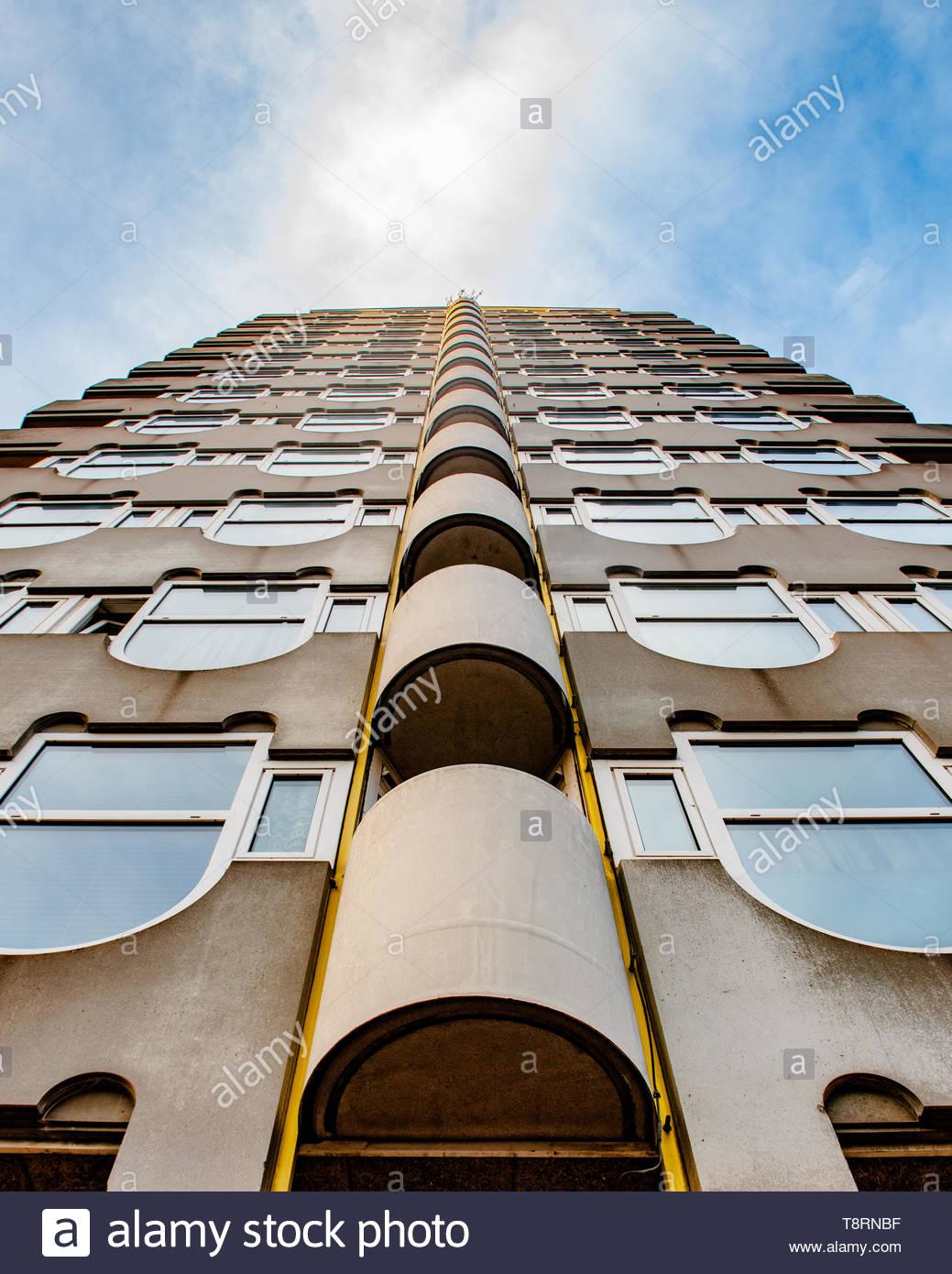 Modern architecture in Rotterdam Netherlands - European architecture - Rotterdam buildings - Rotterdam skyline - Stock Image