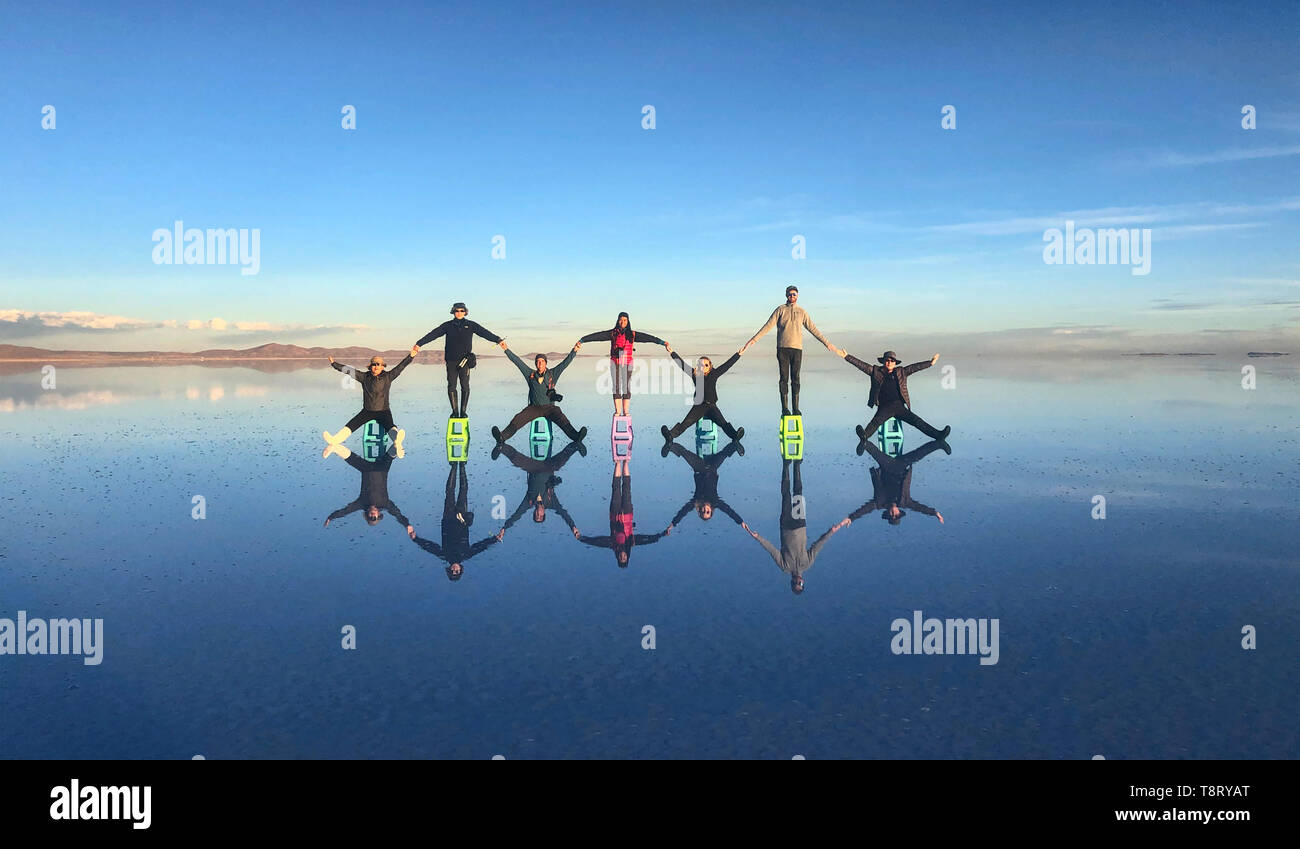 The World S Largest Mirror Reflection On The Salt Flats Of