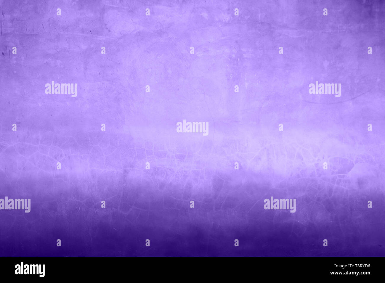 Old wall surface in two tone ultra violet color. Ideal backdrop for design. - Stock Image