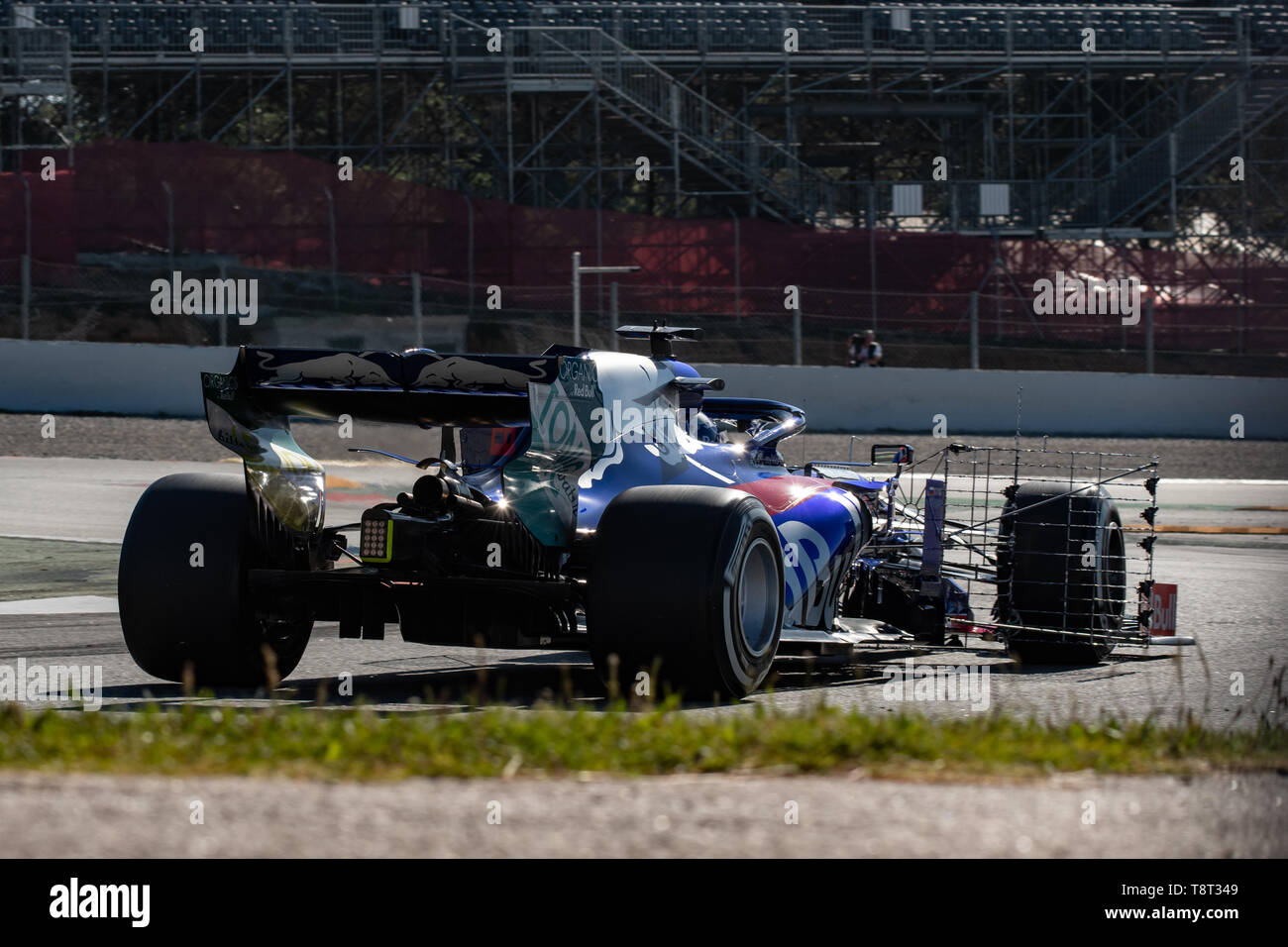 Barcelona, Spain. May, 14th, 2019. Daniil Kvyat of Russia with 26 Scuderia Toro Rosso on track of F1 Test at Circuit de Catalunya. - Stock Image