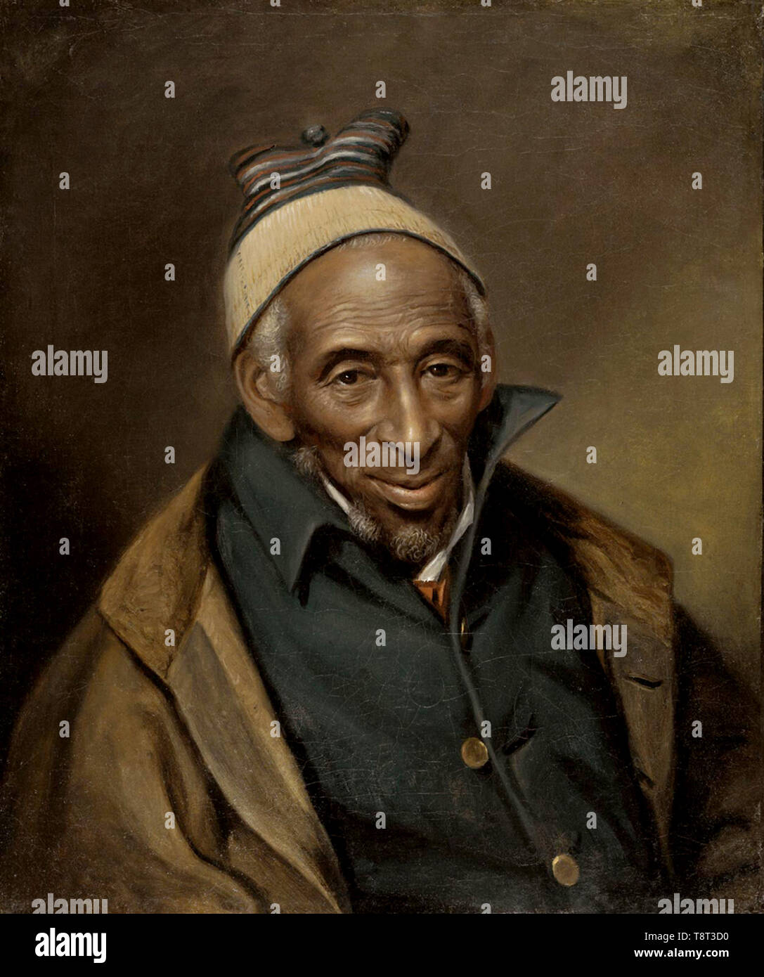 Yarrow Mamout (1736 – 1823), former slave, entrepreneur, and property owner in Georgetown, USA. Portrait of Yarrow Mamout (Muhammad Yaro), 1819 by Charles Willson Peale - Stock Image