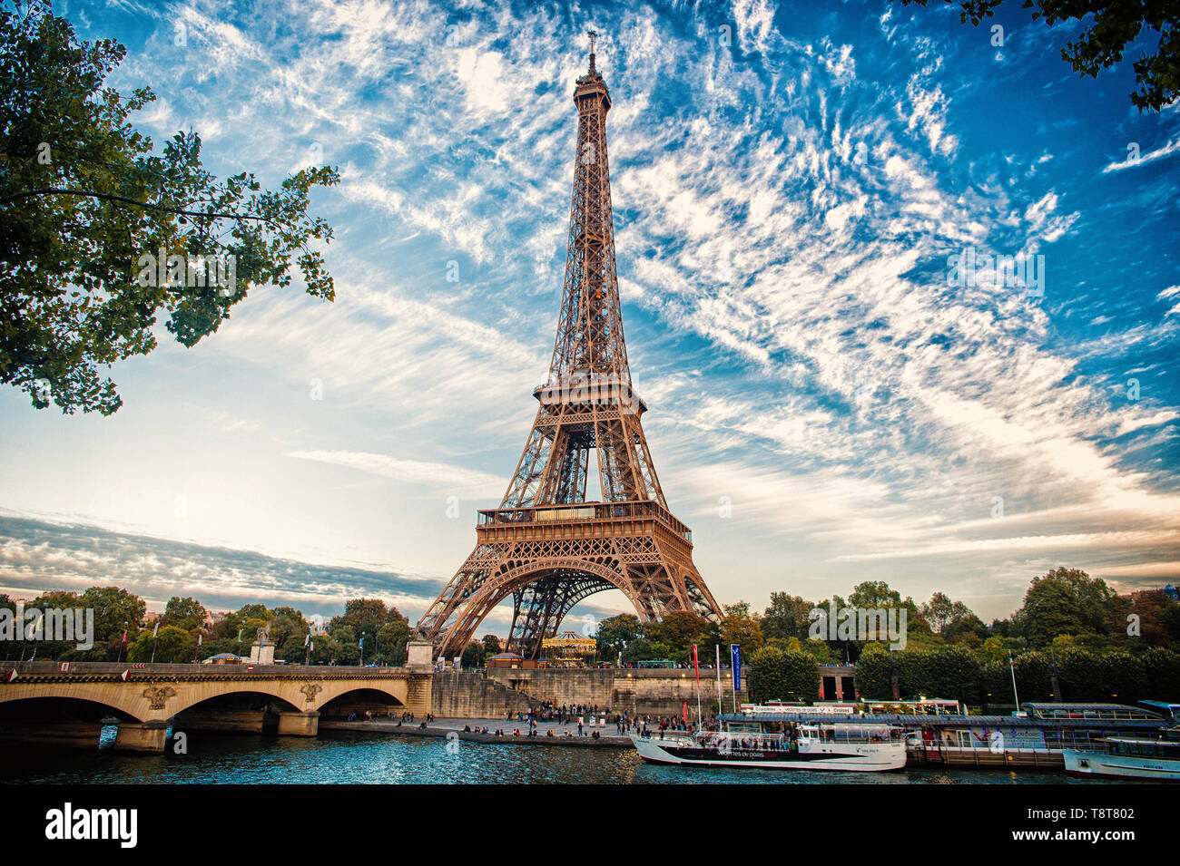 From Paris With Love Eiffel Tower At Sunset In Paris France Romantic Travel Background Eifell Tower Is Paris Symbol Stock Photo Alamy