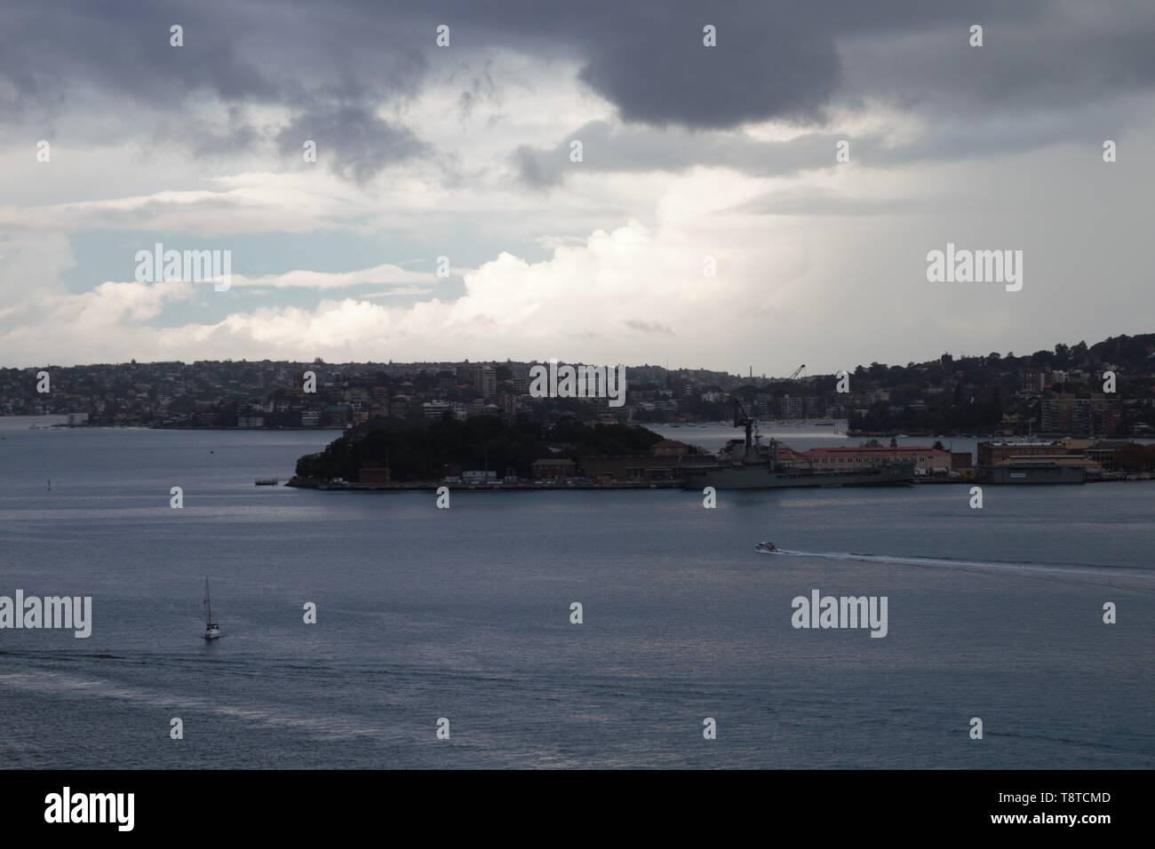 Panorama of the bay of the Sydney opera house - Stock Image