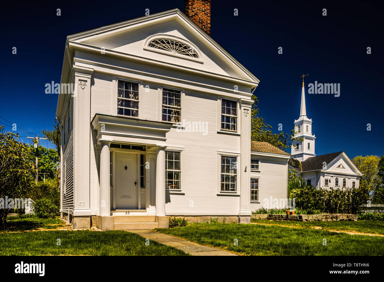 House Noank Historic District _ Noank, Connecticut, USA - Stock Image