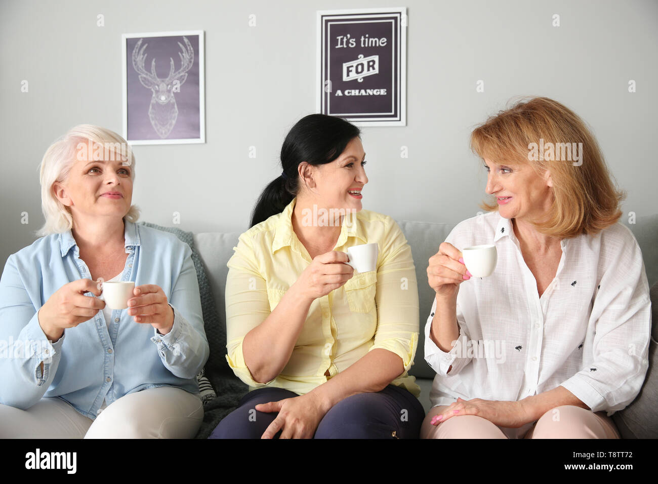 Mature women at home