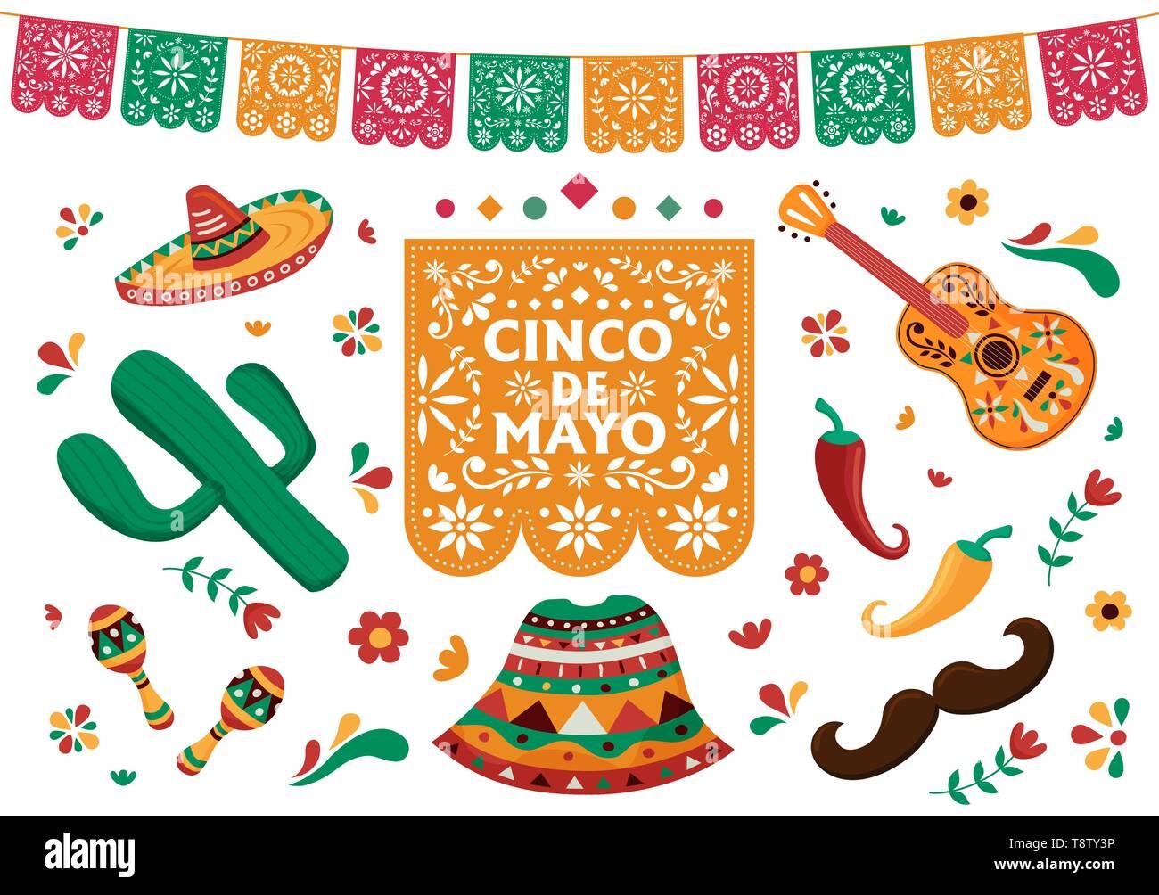 Photo De Decoration cinco de mayo set for mexican independence celebration
