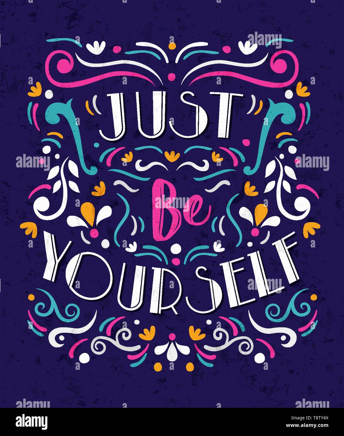 Be Yourself Typography Quote Poster For Positive Life