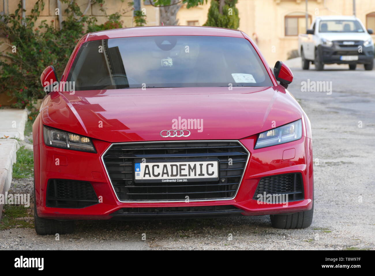 A car with an unusual number plate pictured on the island of Gozo in Malta. Picture by Adam Alexander - Stock Image