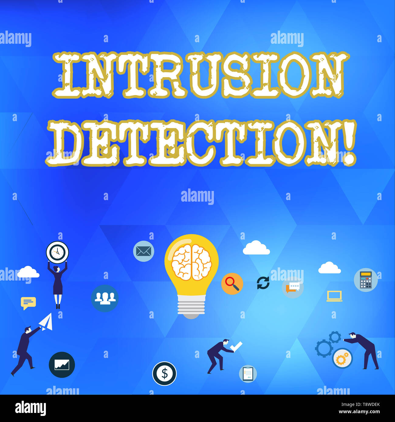 Handwriting text Intrusion Detection. Conceptual photo monitors a network or systems for malicious activity Business Digital Marketing Symbol, Element - Stock Image