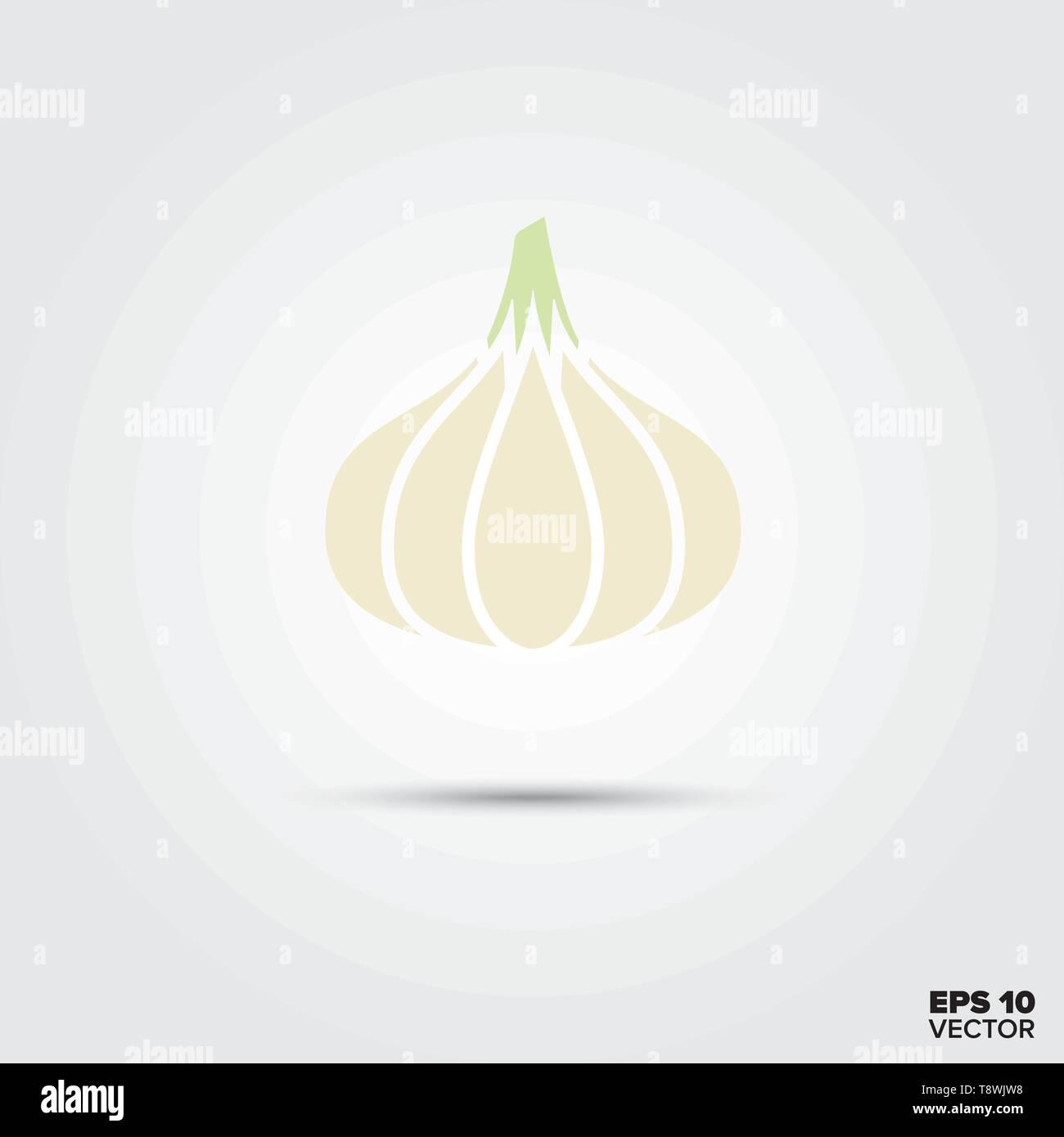 garlic vegetable vector icon - Stock Vector