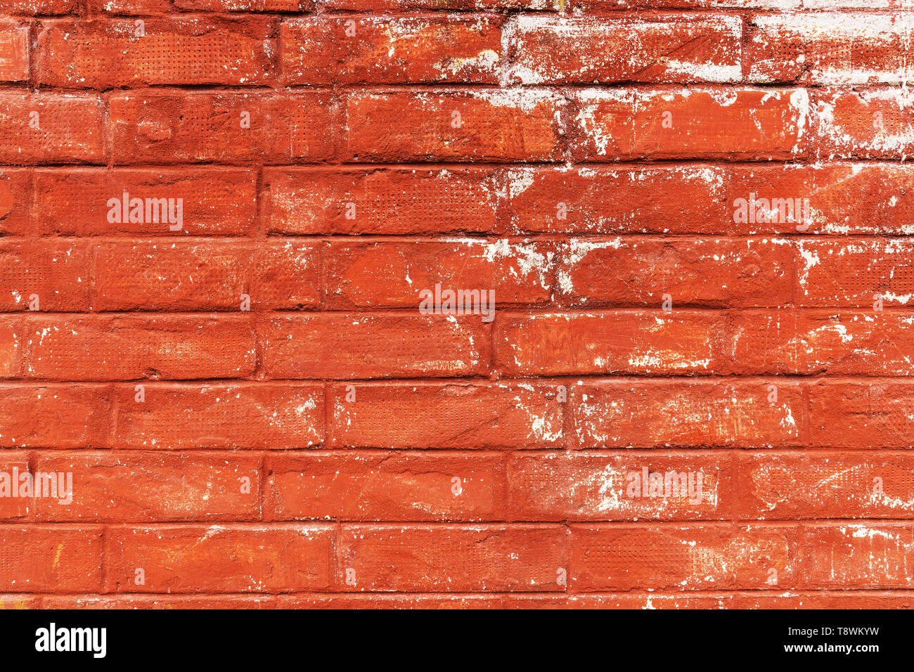 Scratched Red Brick Wall Texture Grunge Urban Patterns Stock