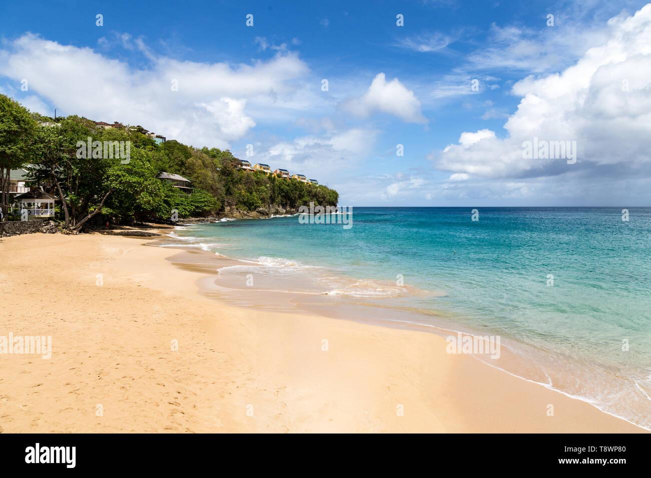 La Toc Beach, St Lucia, Caribbean - Stock Image