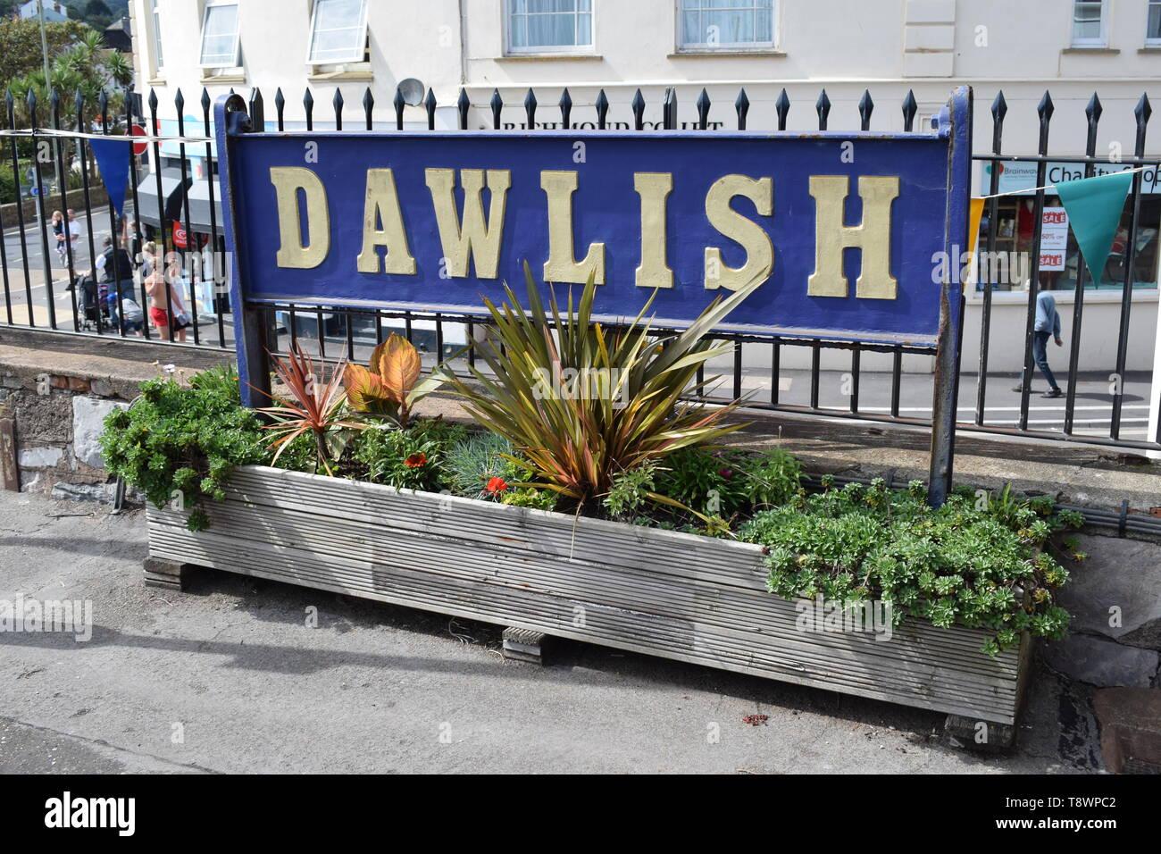 Dawlish Traiin Station - Stock Image