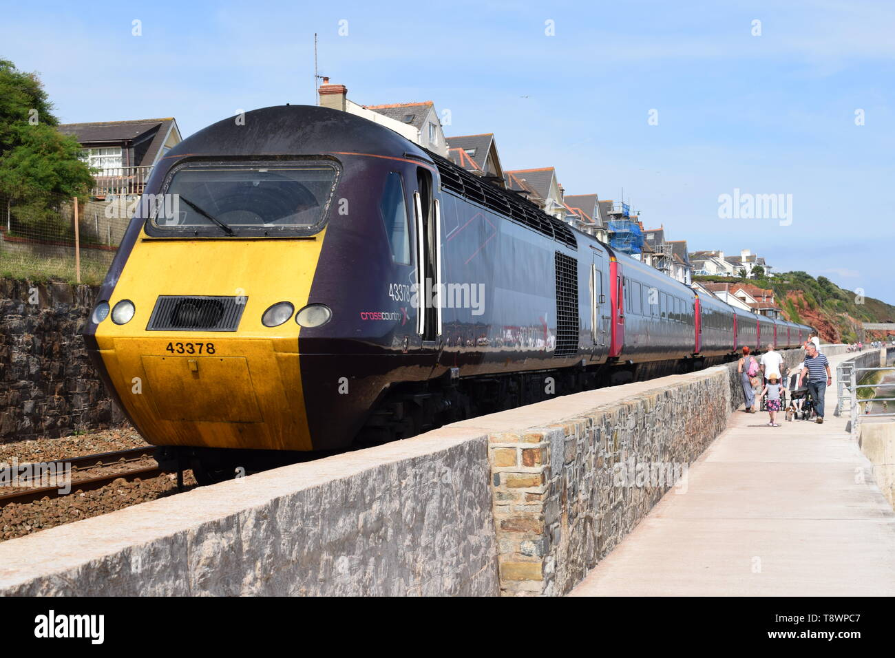 A Cross Country HST Class 43 on an afternoon service to Plymouth. - Stock Image