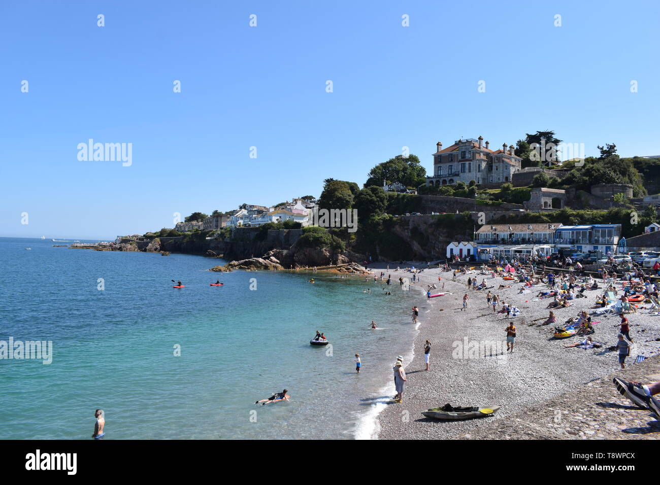 A beautiful summers day near the southern English town of Dawlish. - Stock Image
