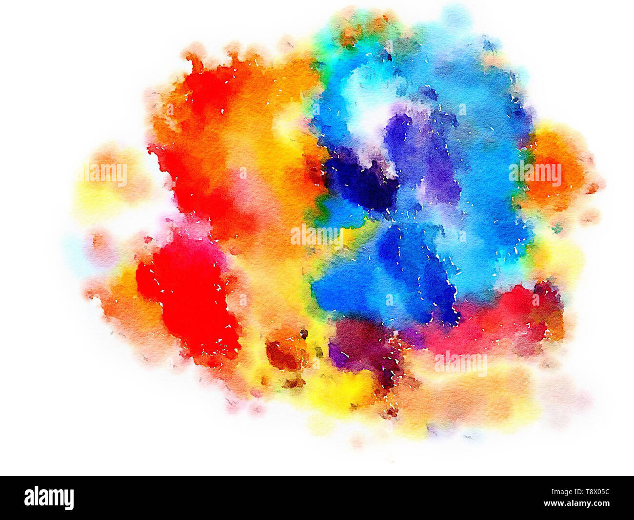 Colorful Watercolor Hand Painted Art Illustration Abstract
