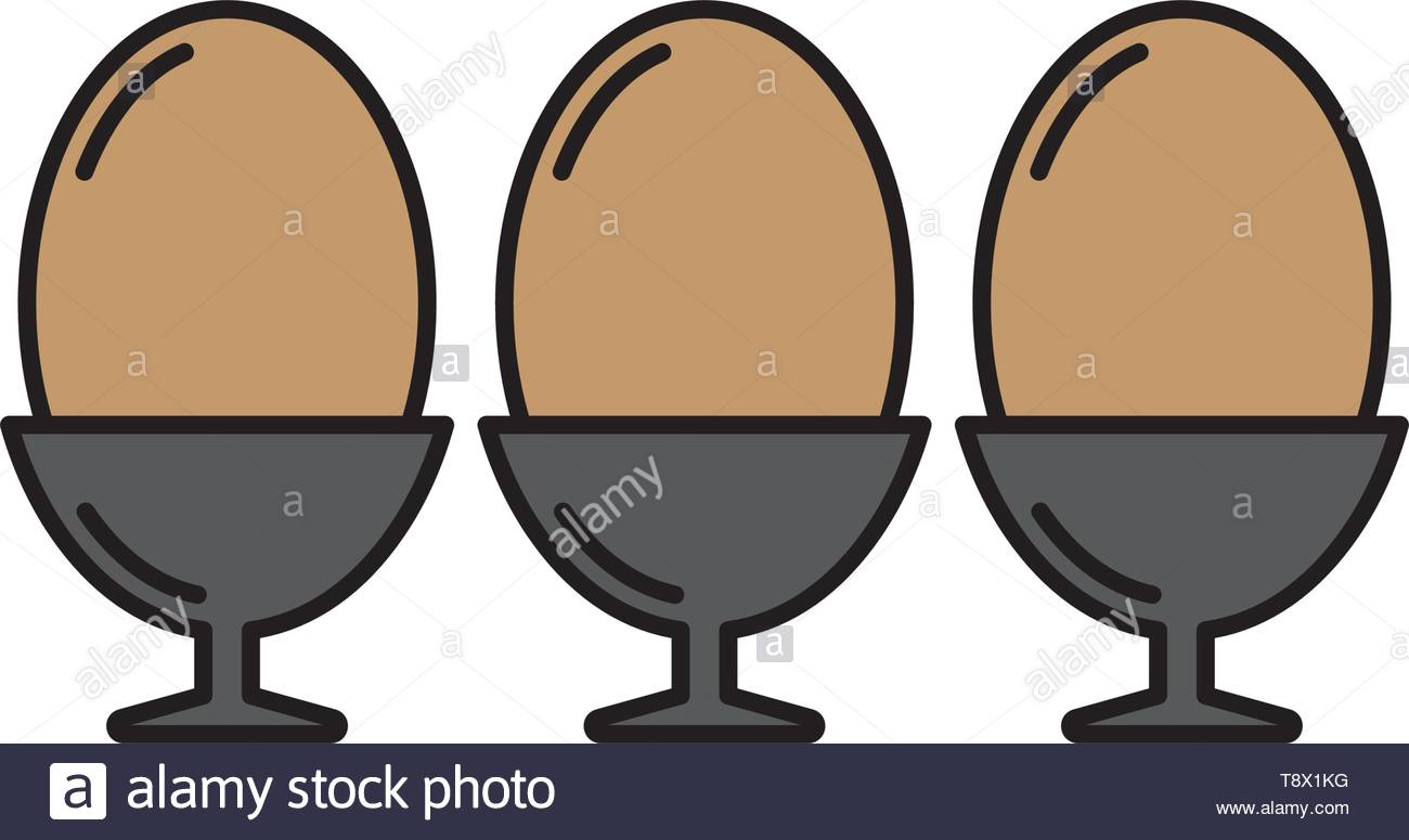 eggs in box package vector icon, isolated on white background - Stock Vector
