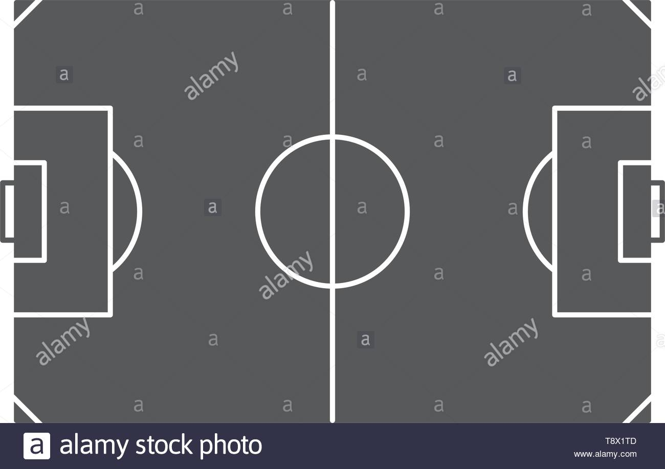 football pitch vector icon concept, isolated on white background - Stock Vector