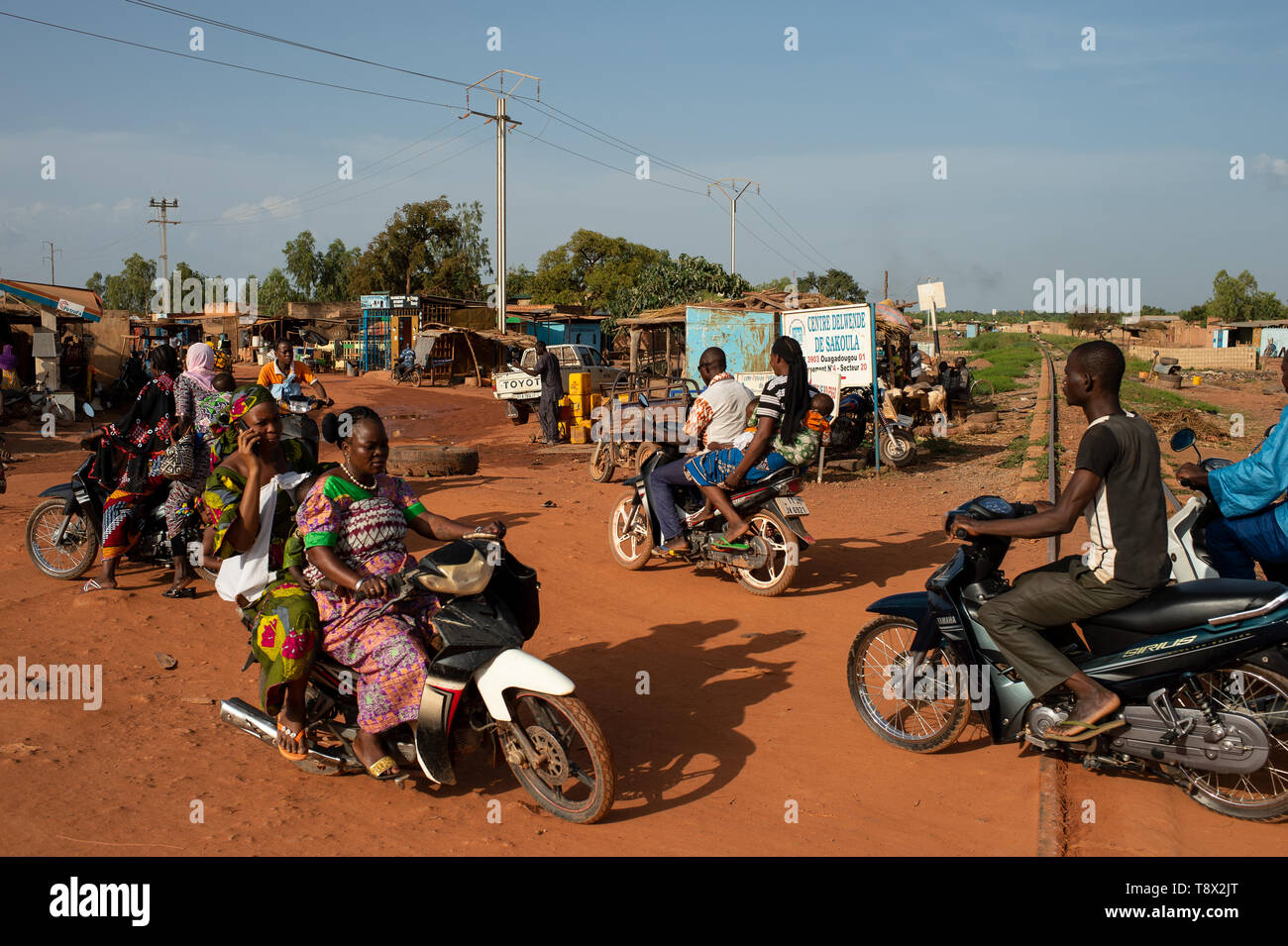 People In The Streets Of Ouagadougou Capital Of Burkina Faso One Of The Most Poor Country Of The Africa Stock Photo Alamy