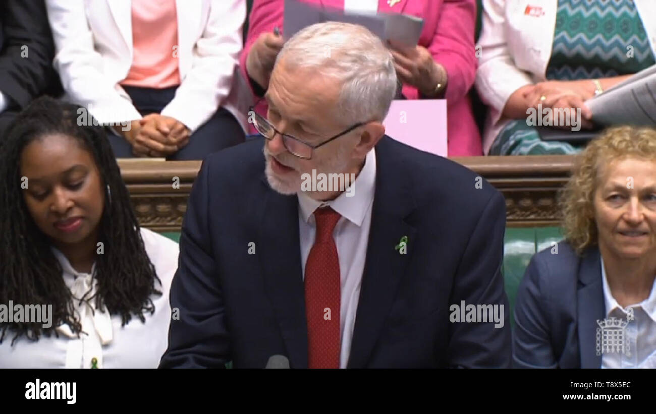 Labour Leader Jeremy Corbyn Speaks During Prime Minister S