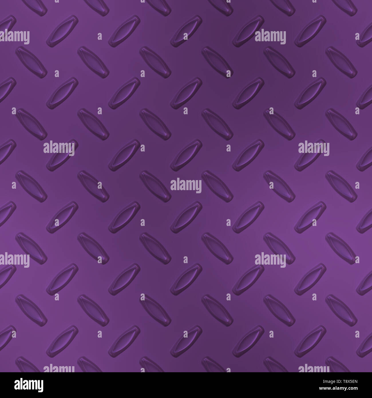 Purple Diamond Plate Metal Seamless Texture Tile - Stock Image