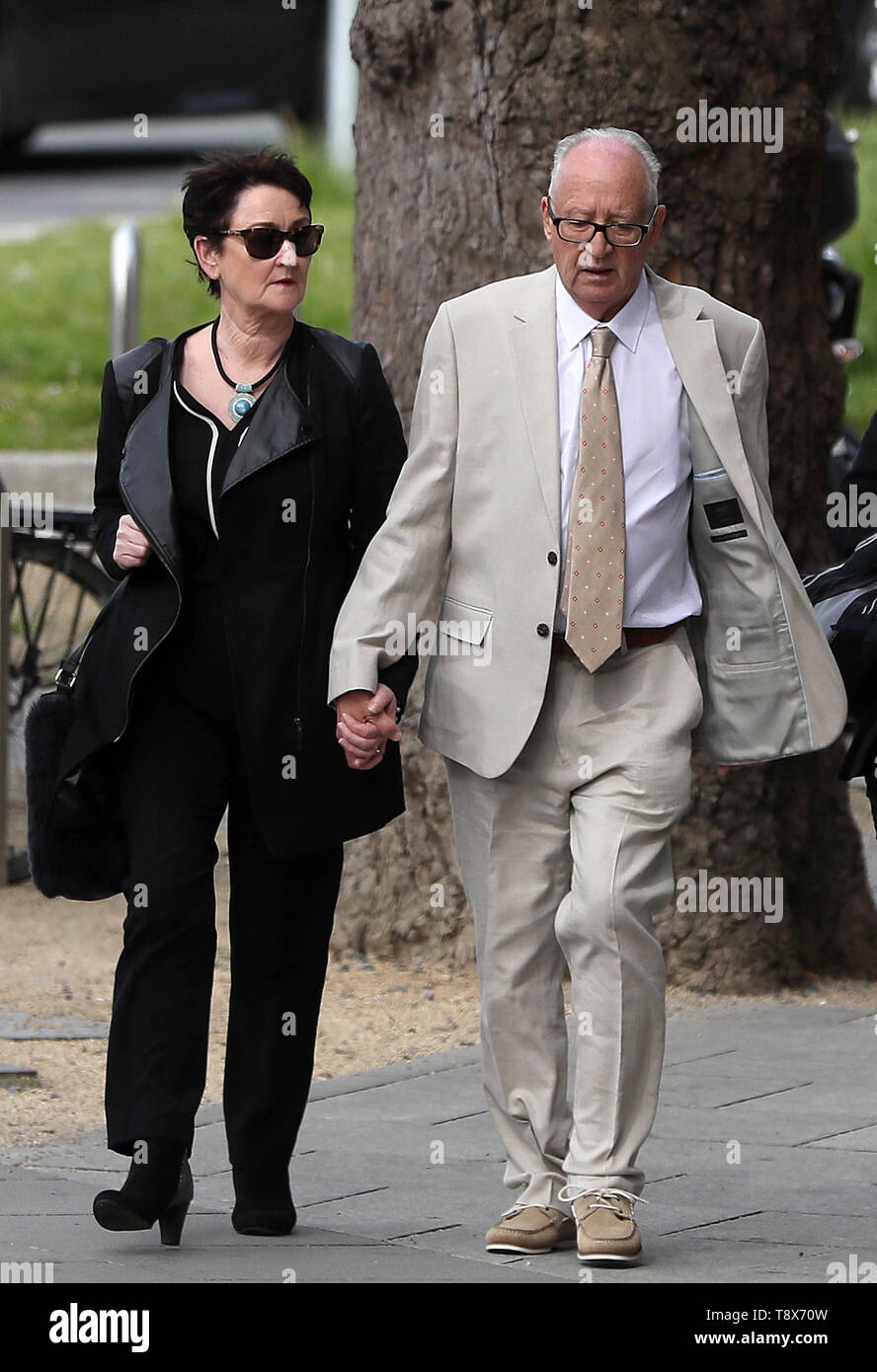 Ana Kriegel's parents, Geraldine and Patric Kriegel arriving at the Criminal Courts of Justice in Dublin as the trial of two boys accused of Ana Kriegel's murder continues. - Stock Image