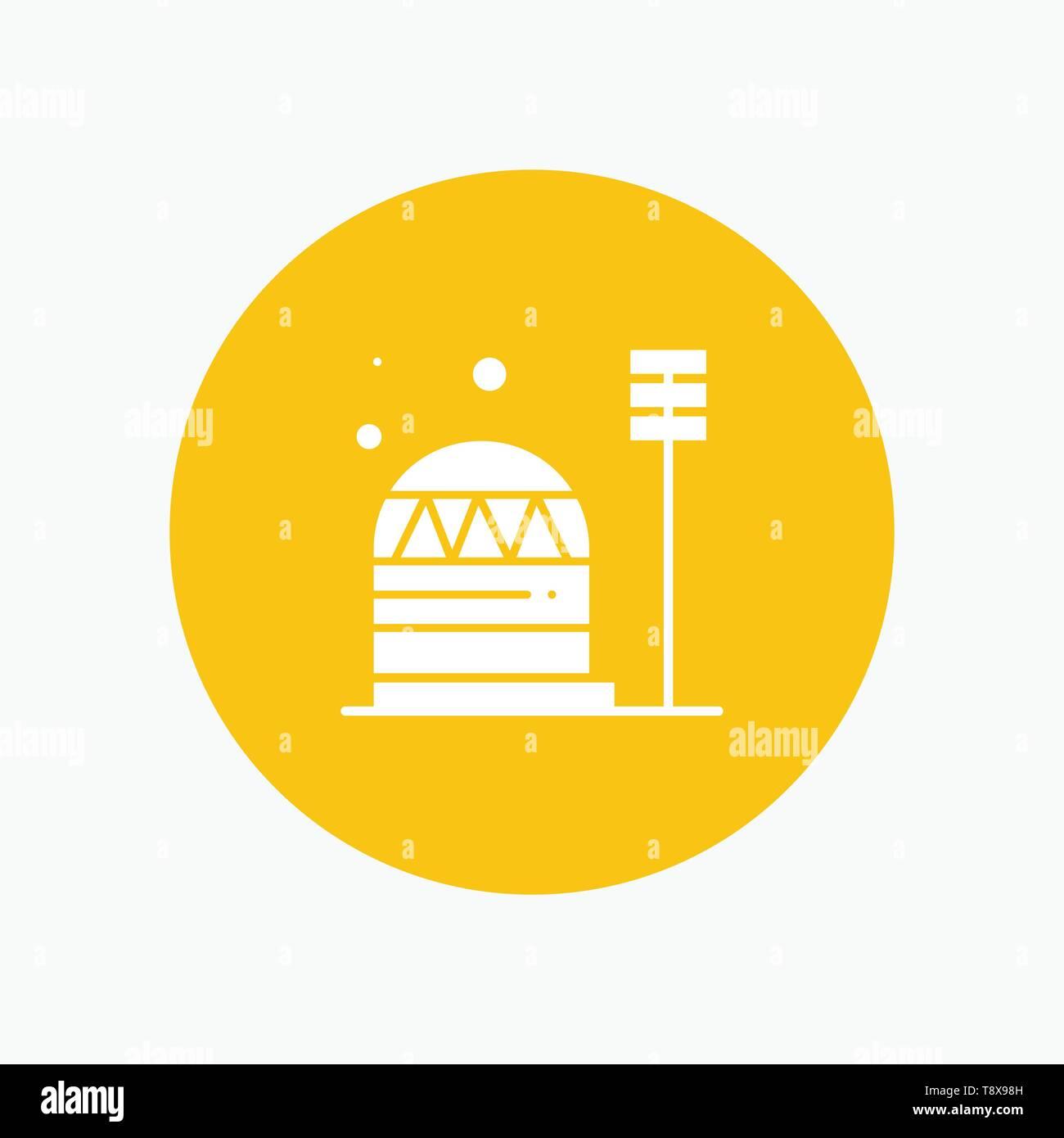 Base, Colony, Construction, Dome, Habitation - Stock Vector