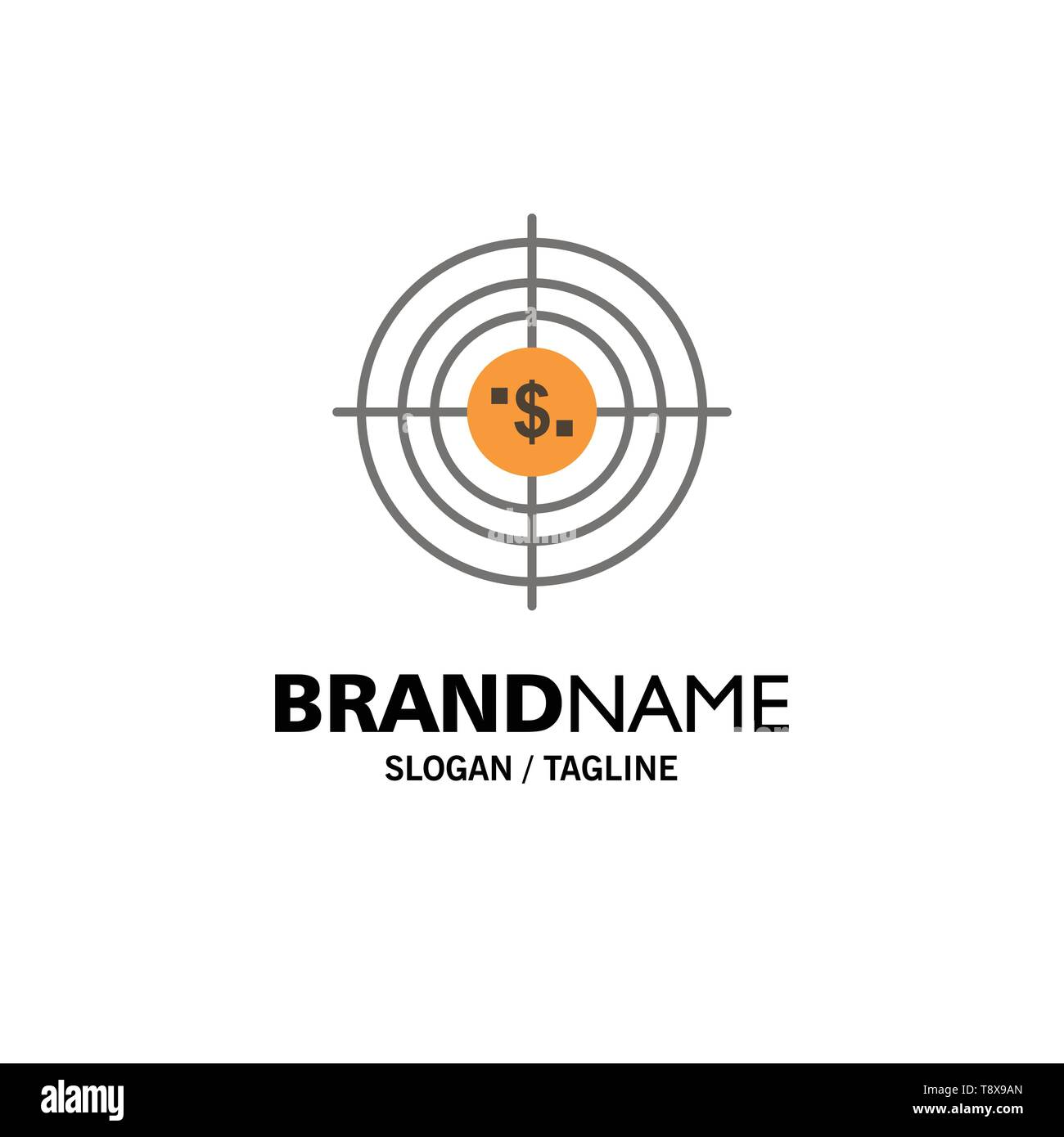 Target, Aim, Business, Cash, Financial, Funds, Hunting, Money Business Logo Template. Flat Color - Stock Image