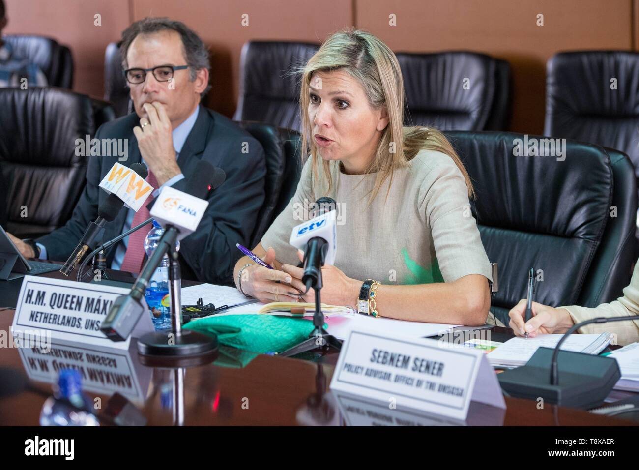 Addis Ababa, Ethiopia  15th May, 2019  Queen Maxima of The