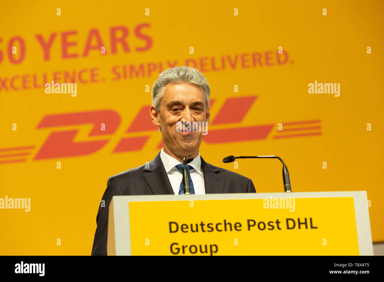 Bonn, Deutschland. 15th May, 2019. Germany, Bonn, May 5 2019, Deutsche Post DHL Annual General Meeting: CEO Frank Appel. Credit: Juergen Schwarz/Alamy Live News - Stock Image
