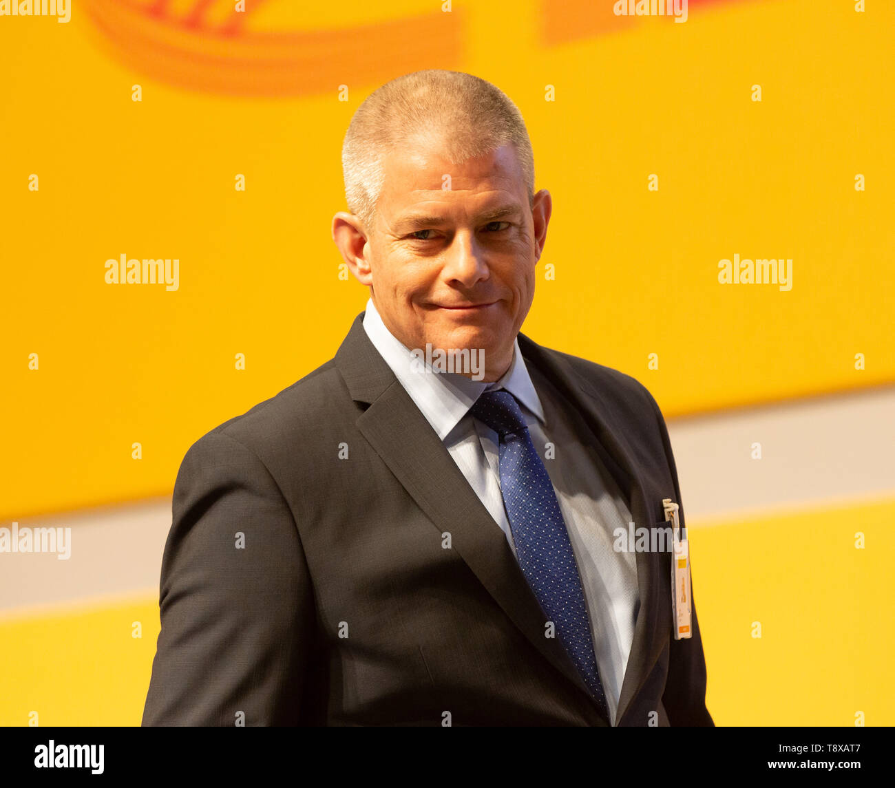 Bonn, Deutschland. 15th May, 2019. Germany, Bonn, May 5 2019, Deutsche Post DHL Annual General Meeting: Member of the executive board John Gilbert. Credit: Juergen Schwarz/Alamy Live News - Stock Image