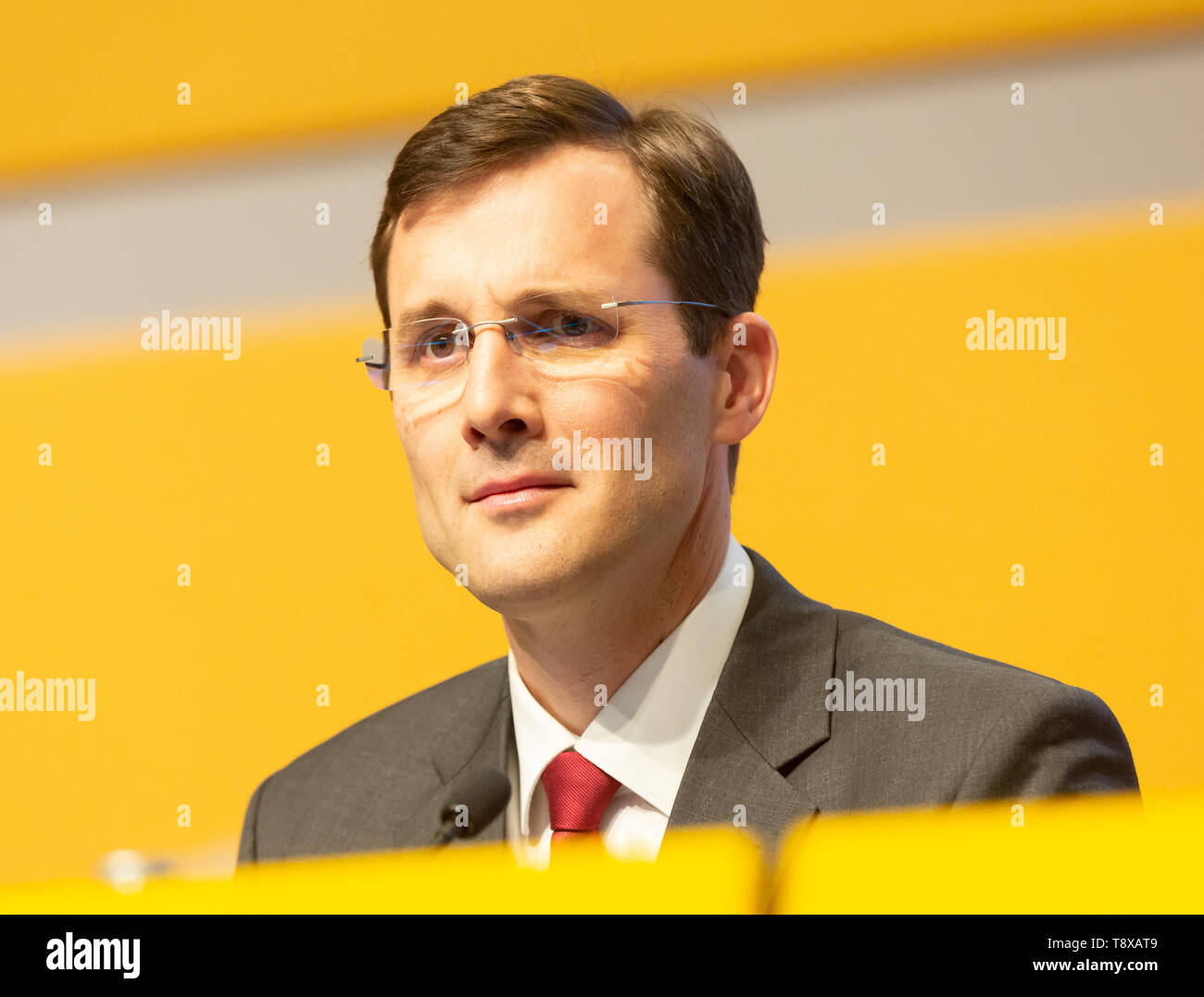 Bonn, Deutschland. 15th May, 2019. Germany, Bonn, May 5 2019, Deutsche Post DHL Annual General Meeting: Member of the executive board Tobias Meyer. Credit: Juergen Schwarz/Alamy Live News - Stock Image